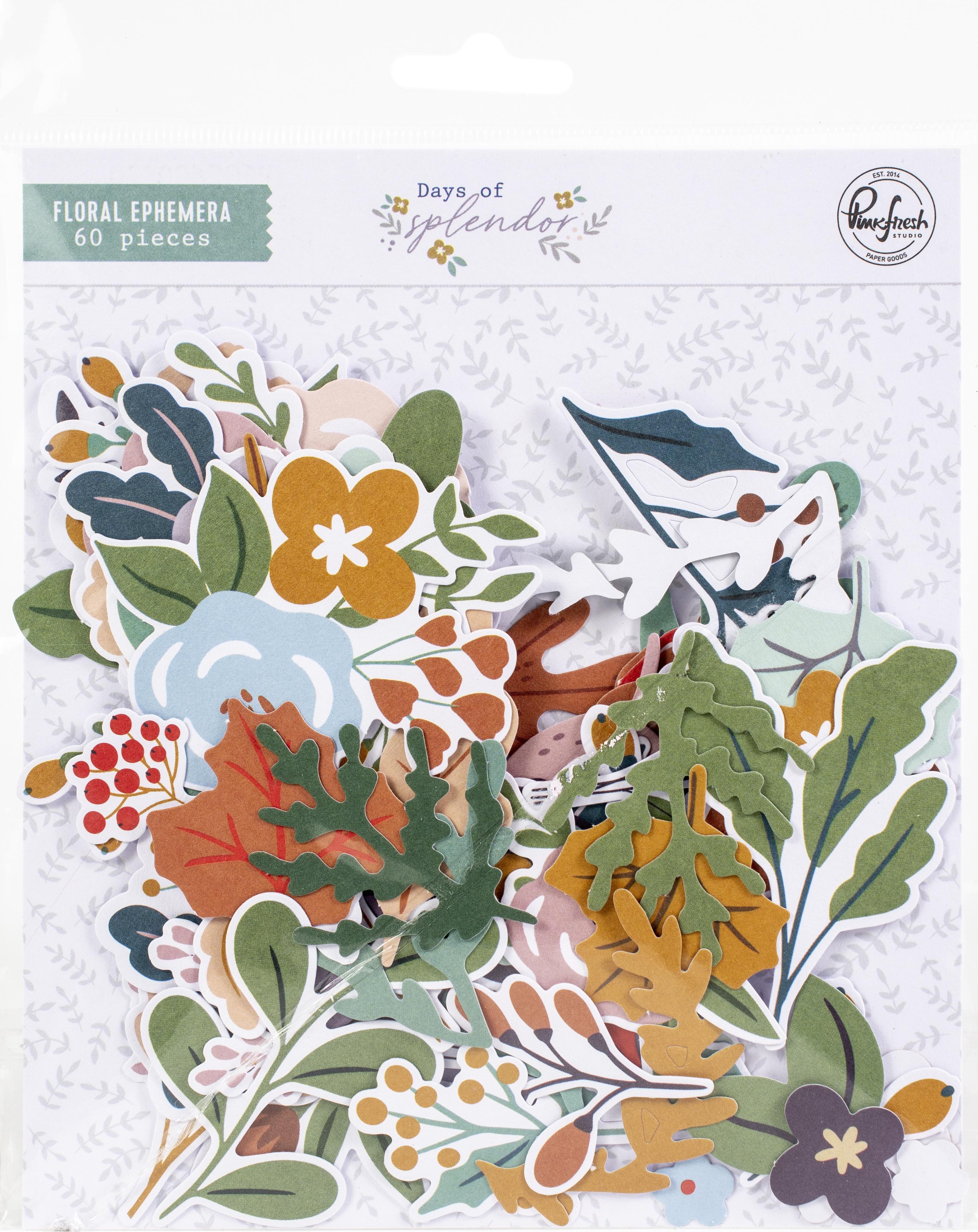 Pinkfresh Floral Cardstock Die-Cuts-Days Of Splendor