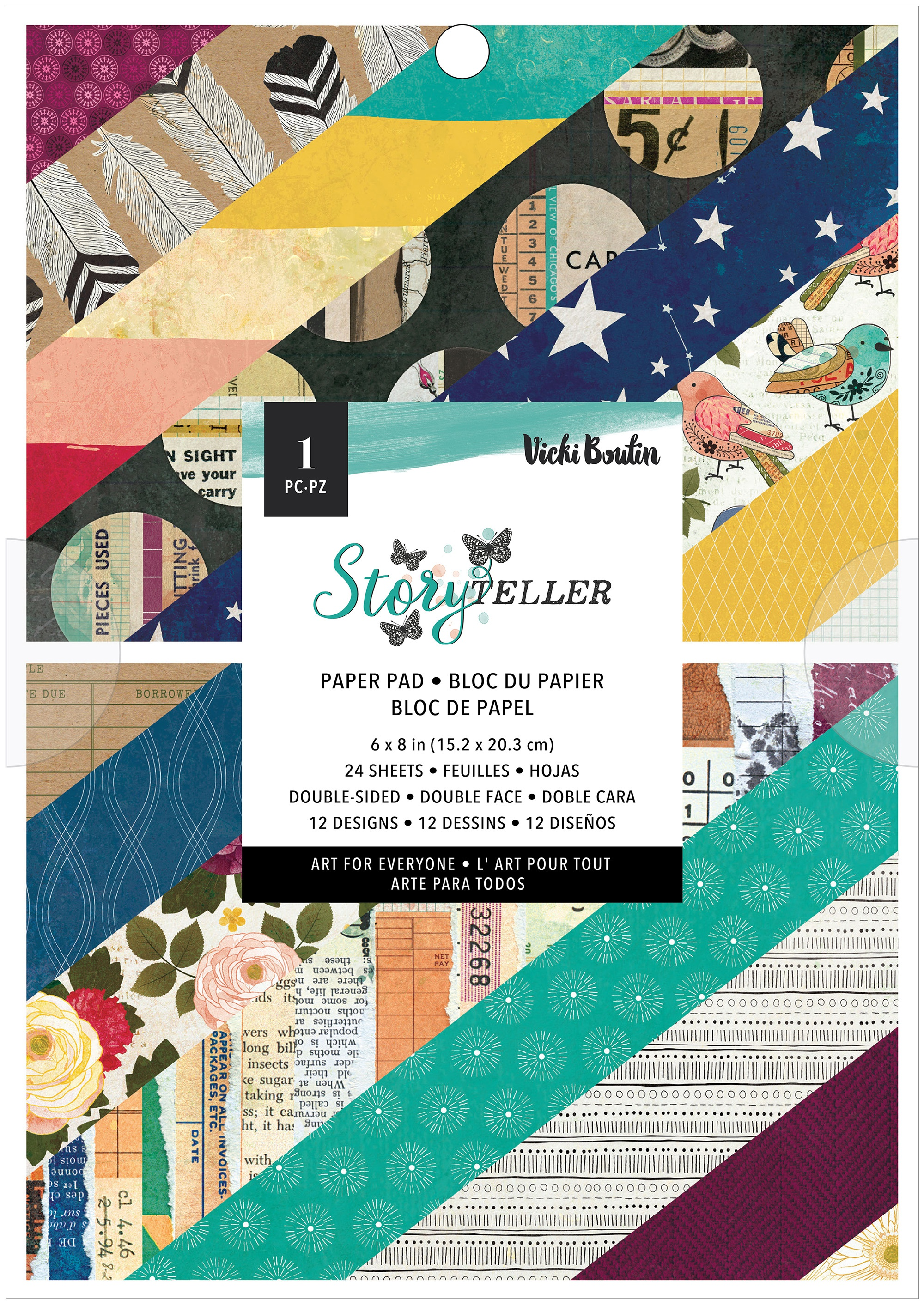 American Crafts Double-Sided Paper Pad 6X8 24/Pkg-Vicki Boutin Storyteller