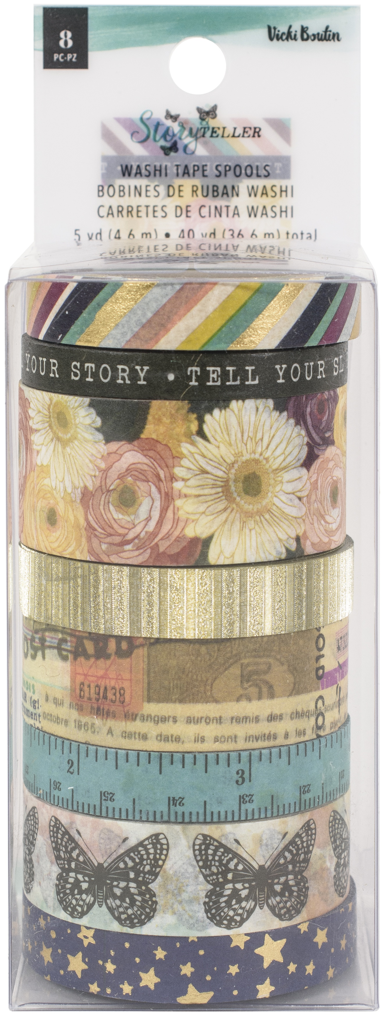 Storyteller Washi Tape 8/Pkg