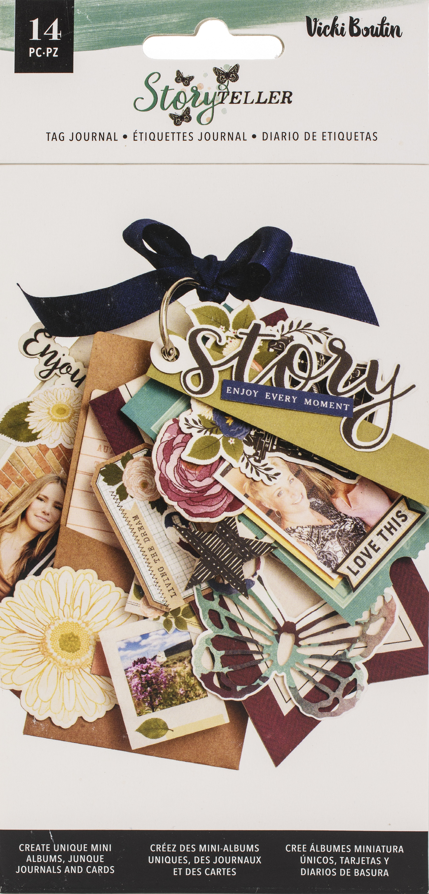 Vicki Boutin Storyteller Tags & Journaling Pieces-W/Iridescent Glitter Accents