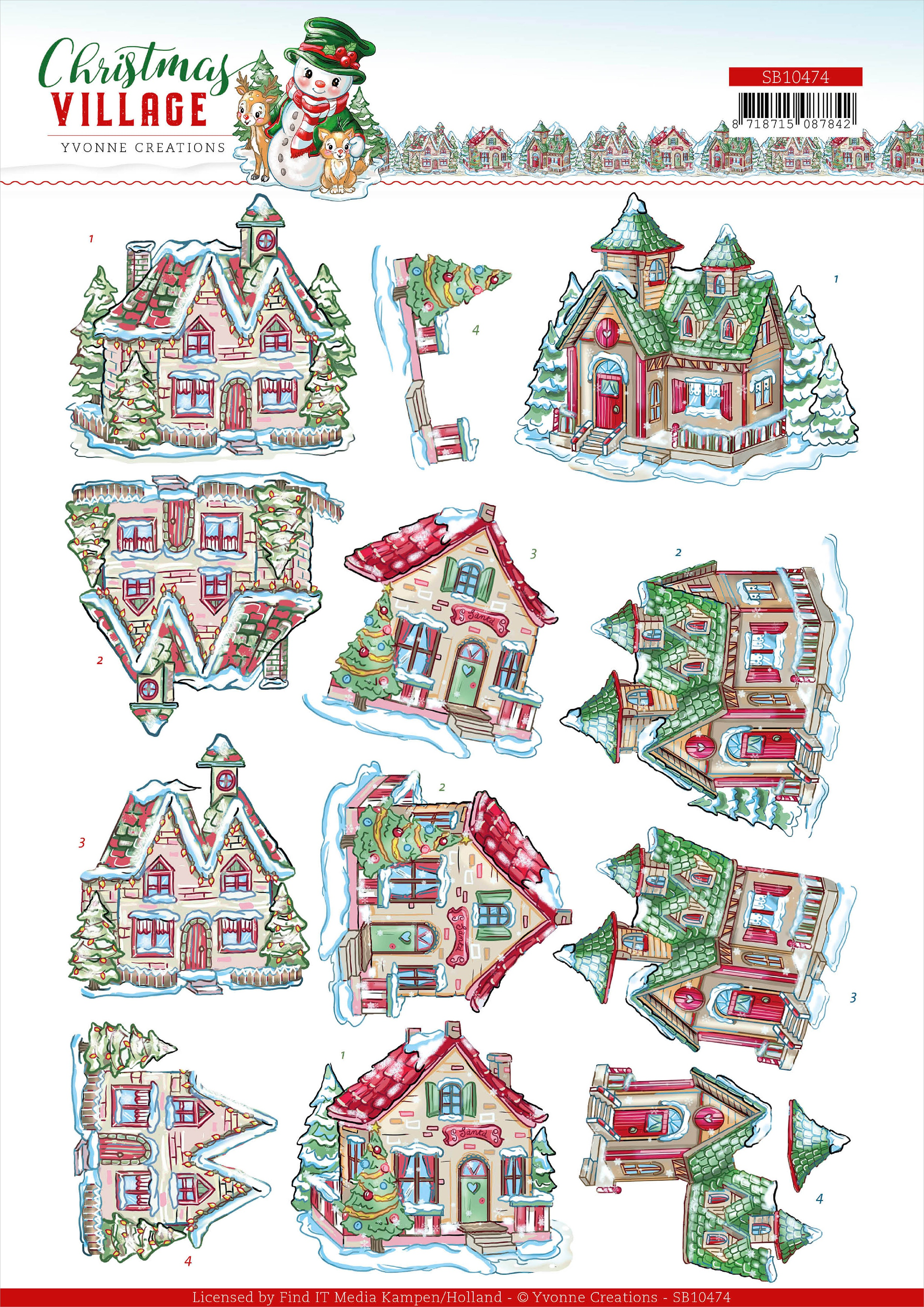 Find It Trading - Christmas Houses Stickers