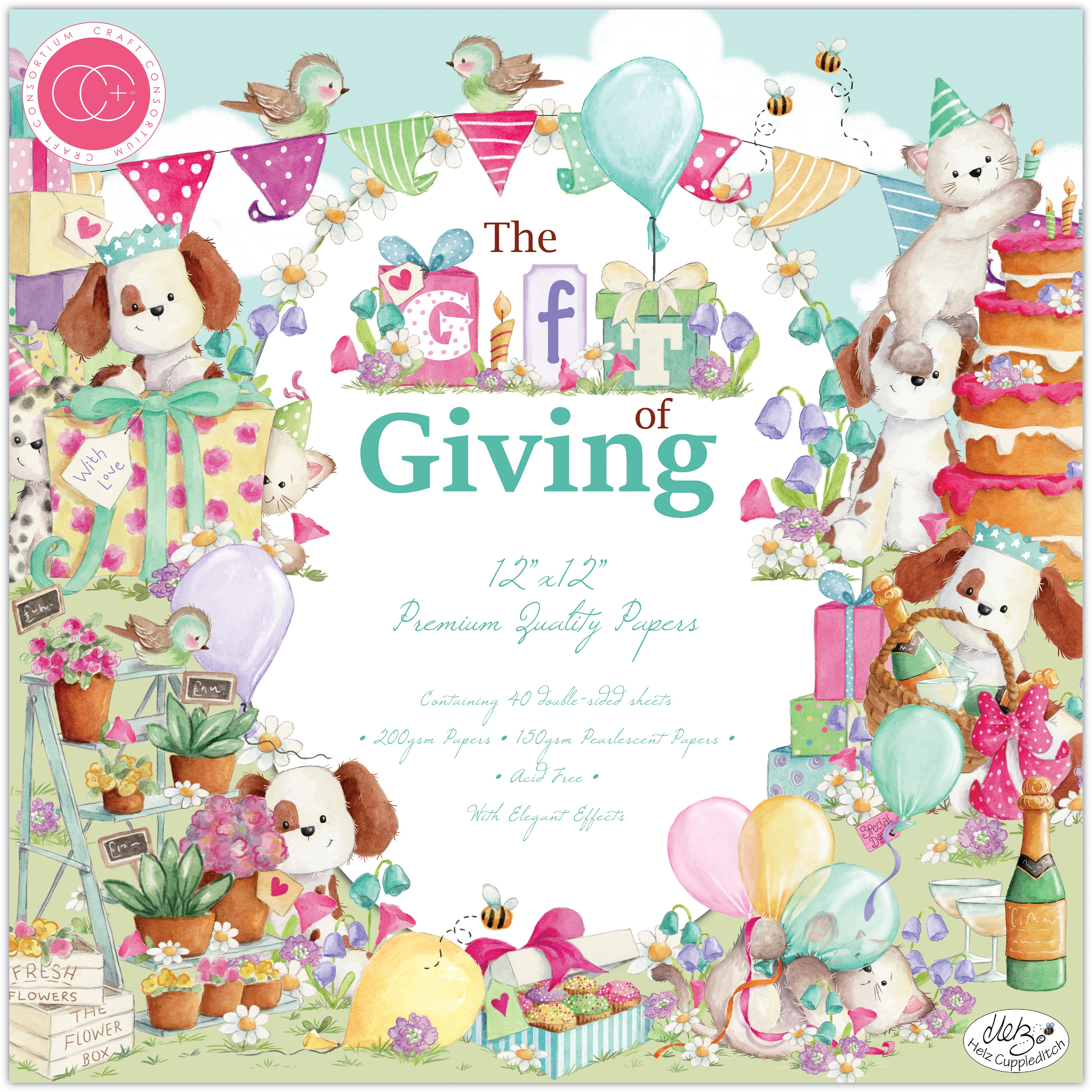 Craft Consortium Double-Sided Paper Pad 12X12 40/Pkg-The Gift Of Giving