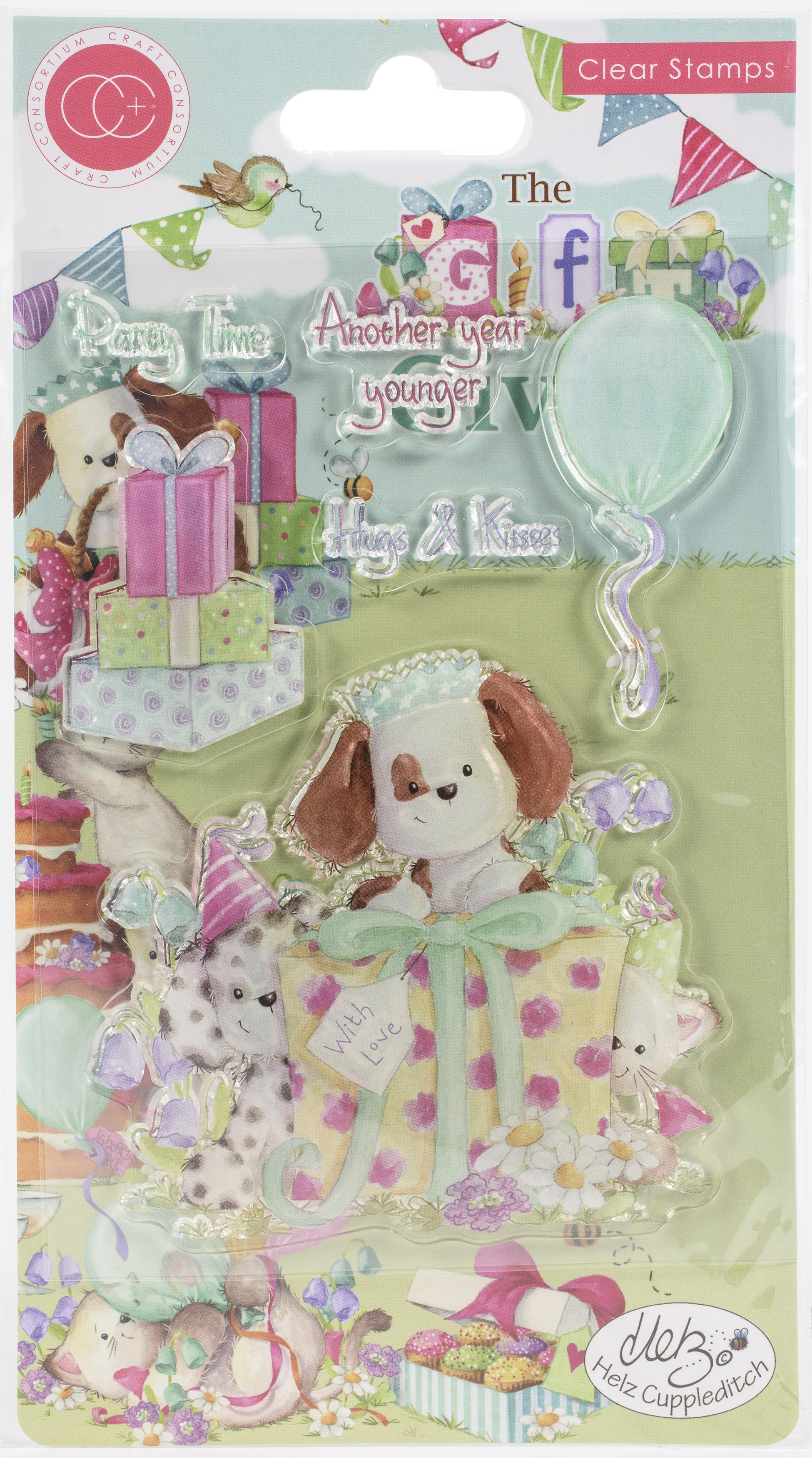 Craft Consortium A5 Clear Stamps-Party Time, The Gift Of Giving