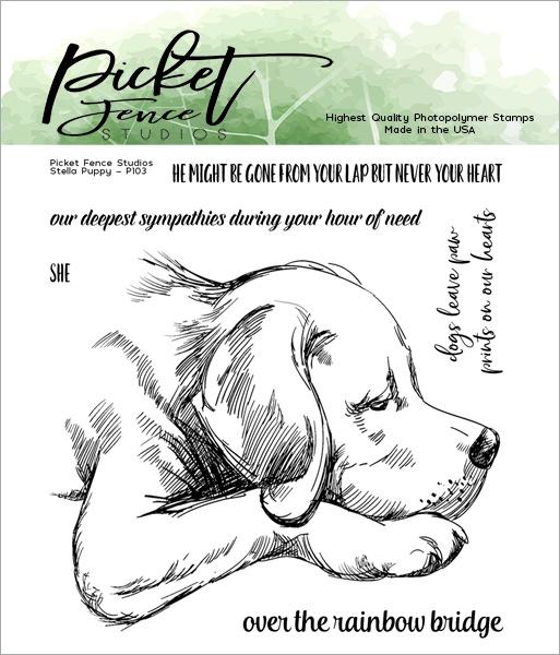 Picket Fence Studios 4X4 Stamp Set-Stella Puppy
