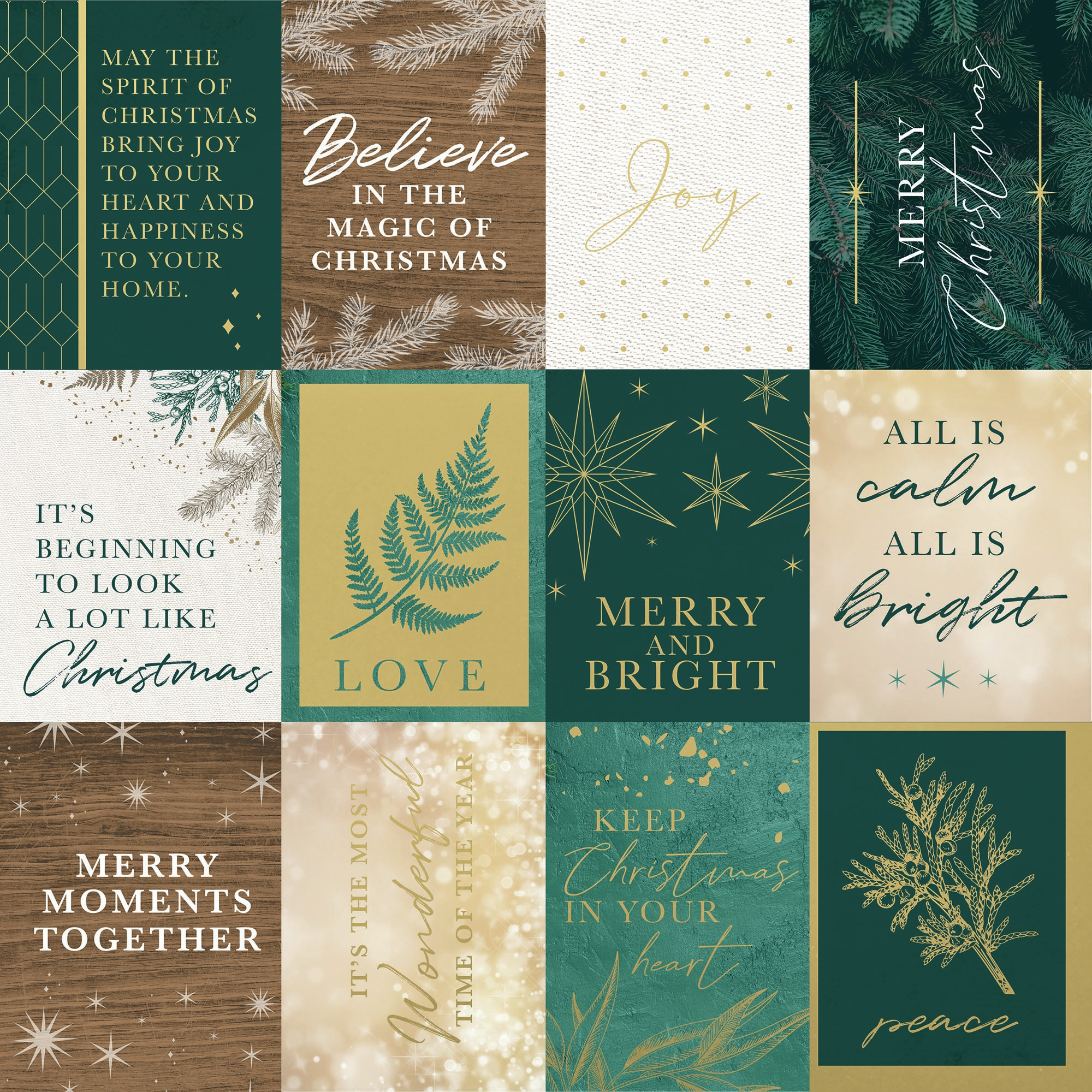 Emerald Eve Double-Sided Cardstock 12X12-Merry Moments