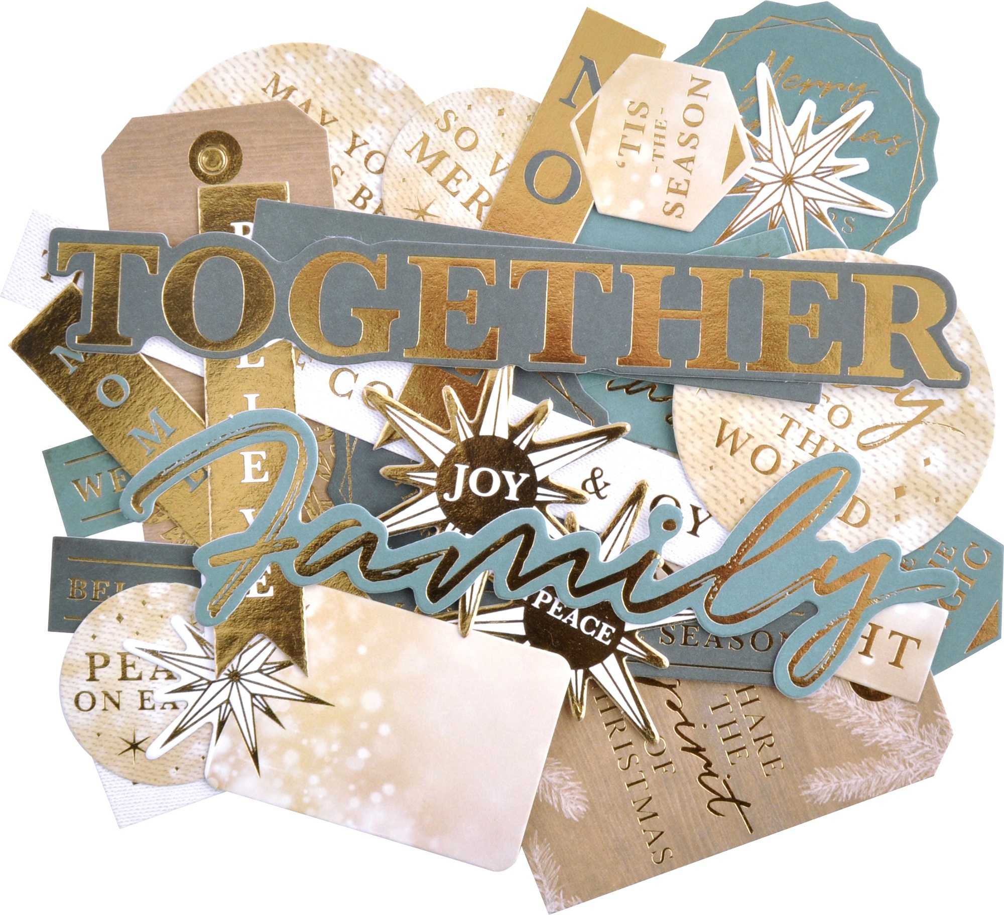 Kaisercraft Sentiment Collectables Cardstock Die-Cuts-Emerald Eve