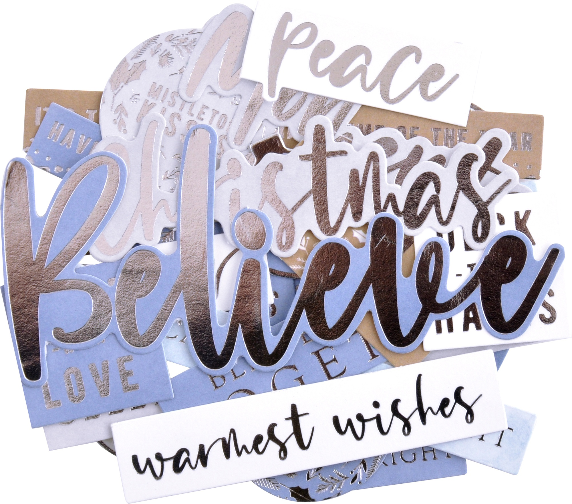 Kaisercraft Sentiment Collectables Cardstock Die-Cuts-Whimsy Wishes