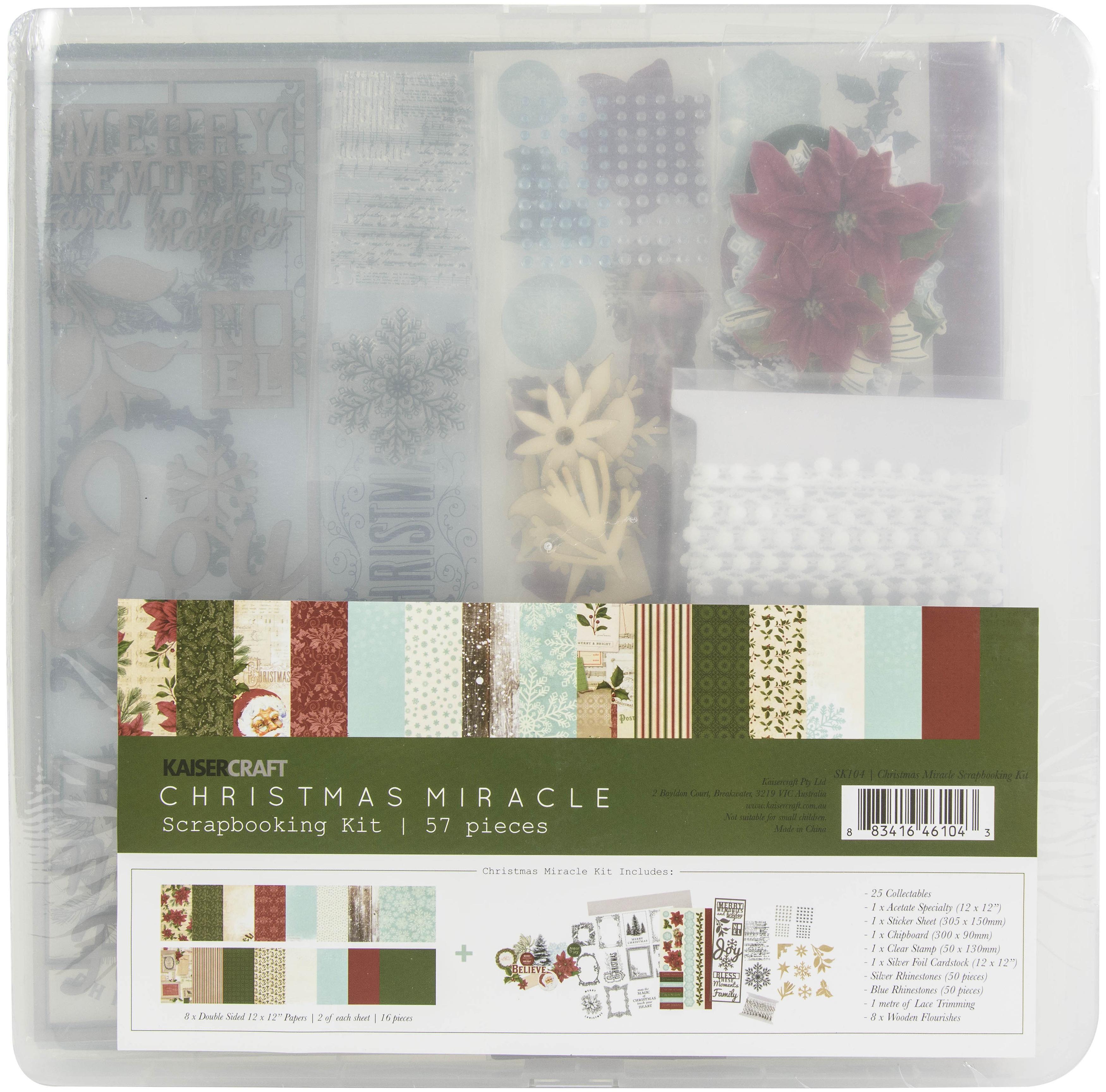Kaisercraft Scrapbook Kit-Christmas Miracle