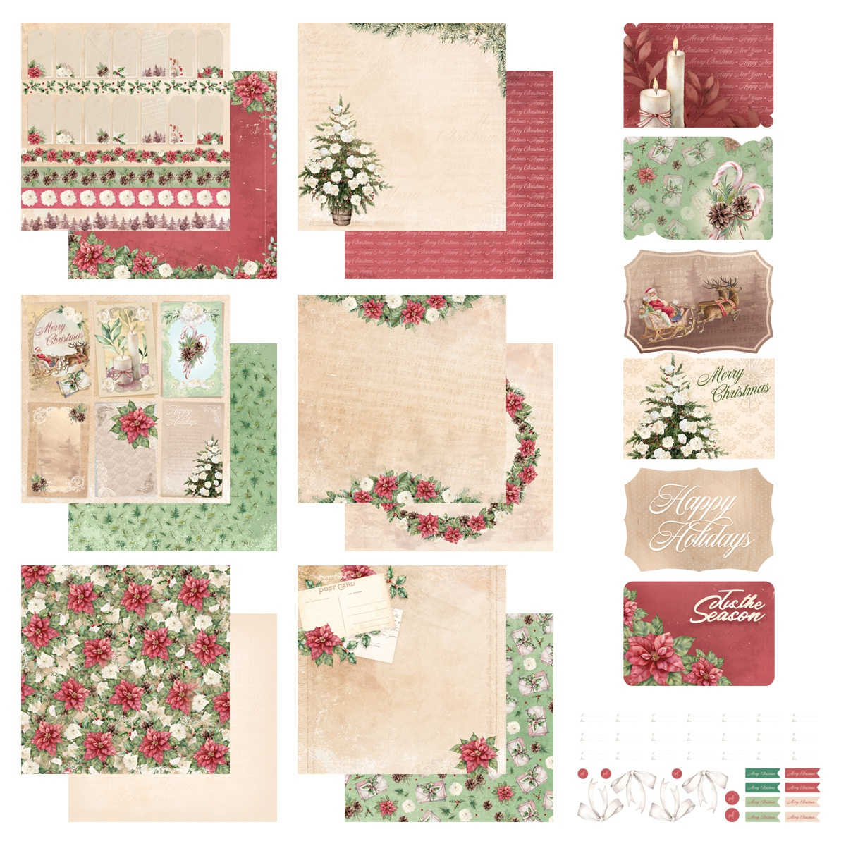Couture Creations The Gift Of Giving 12X12 Collection-Stickers, Postcards & Pa...