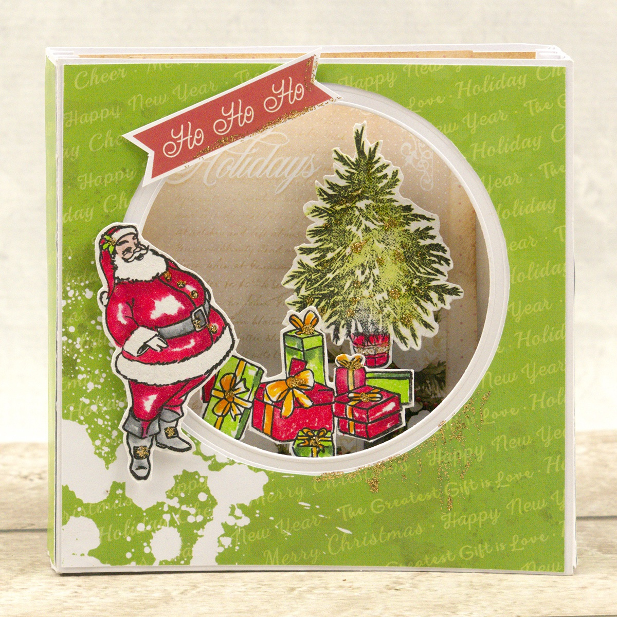 Couture Creations The Gift Of Giving Mini Stamp-Santa