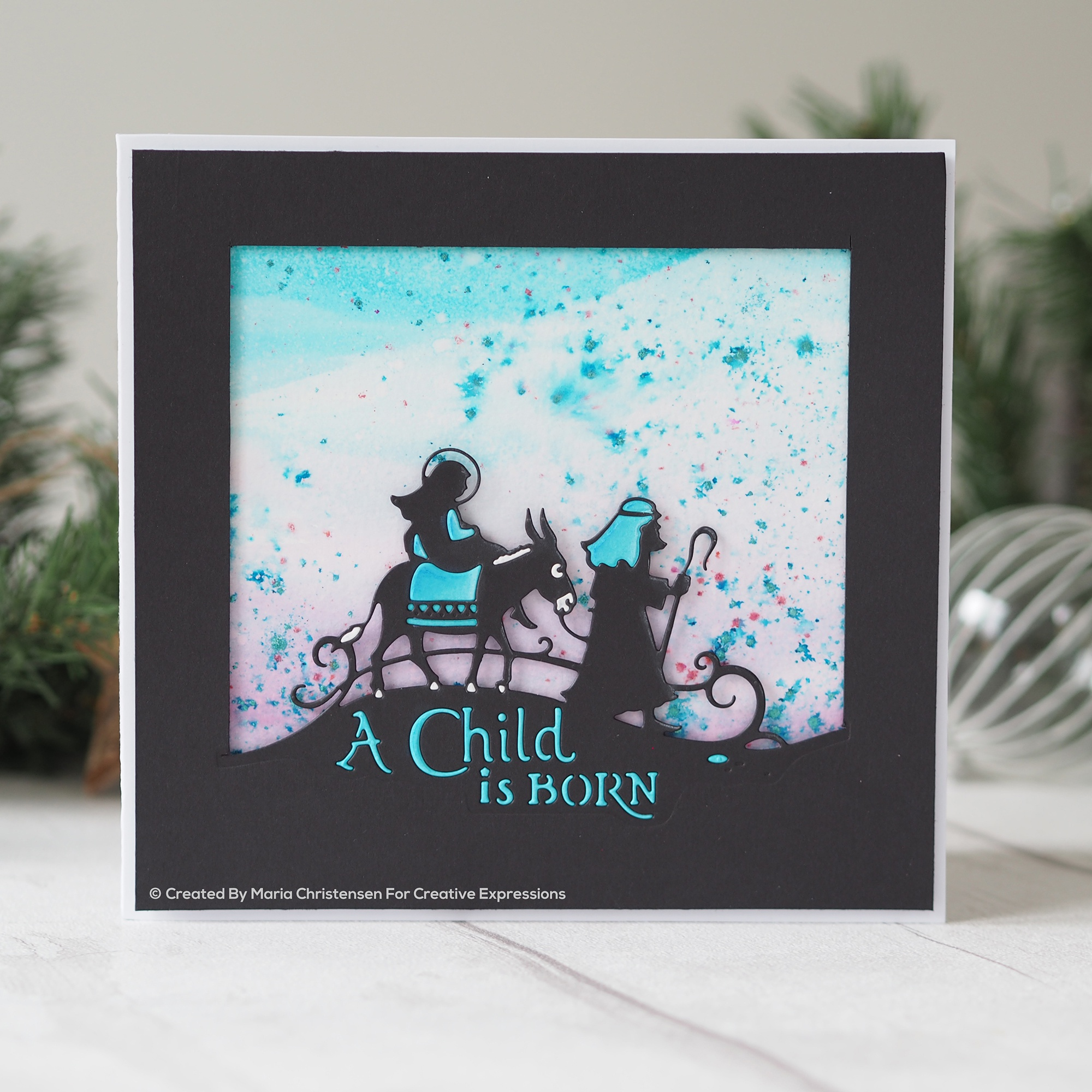Creative Expressions Paper Cuts Edger Craft Dies-A Child Is Born