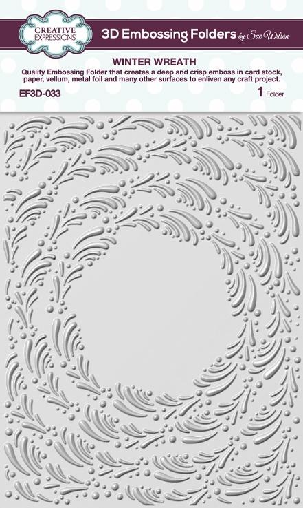 3D Embossing Folder - Winter Wreath
