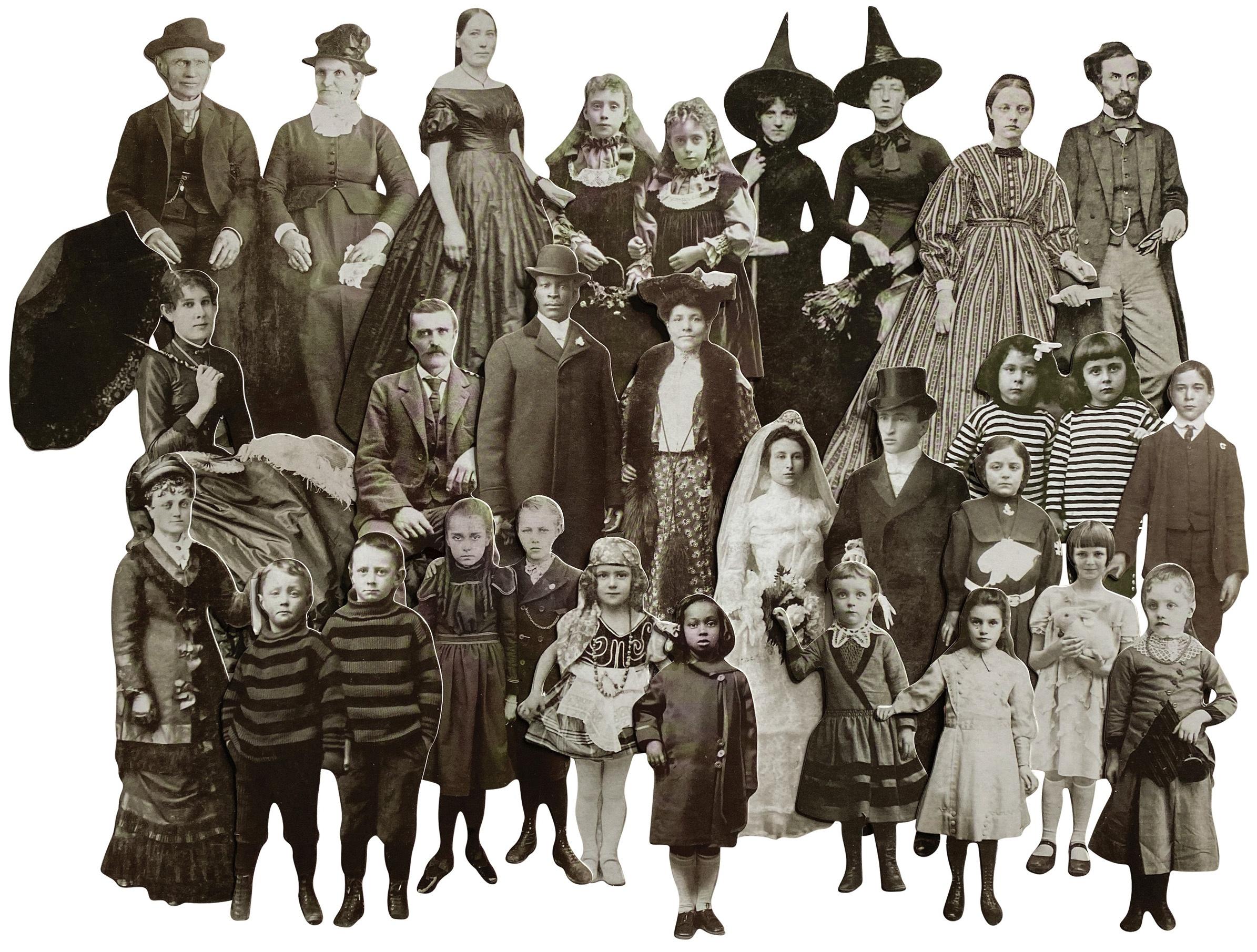 Idea-Ology Paper Dolls Die-Cuts 22/Pkg-Halloween