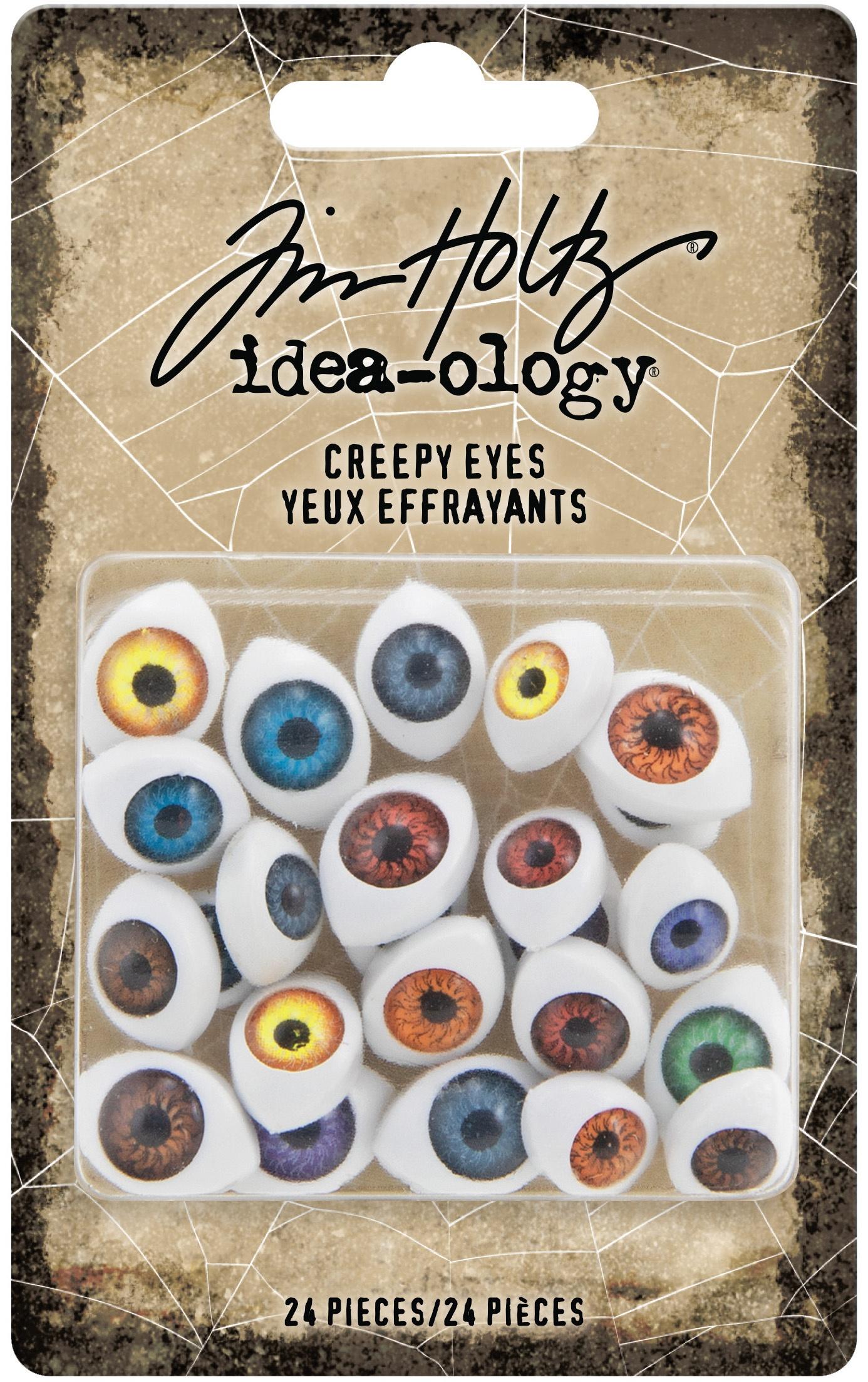 Tim Holtz Idea-Ology Creepy Eyes 24/Pkg-