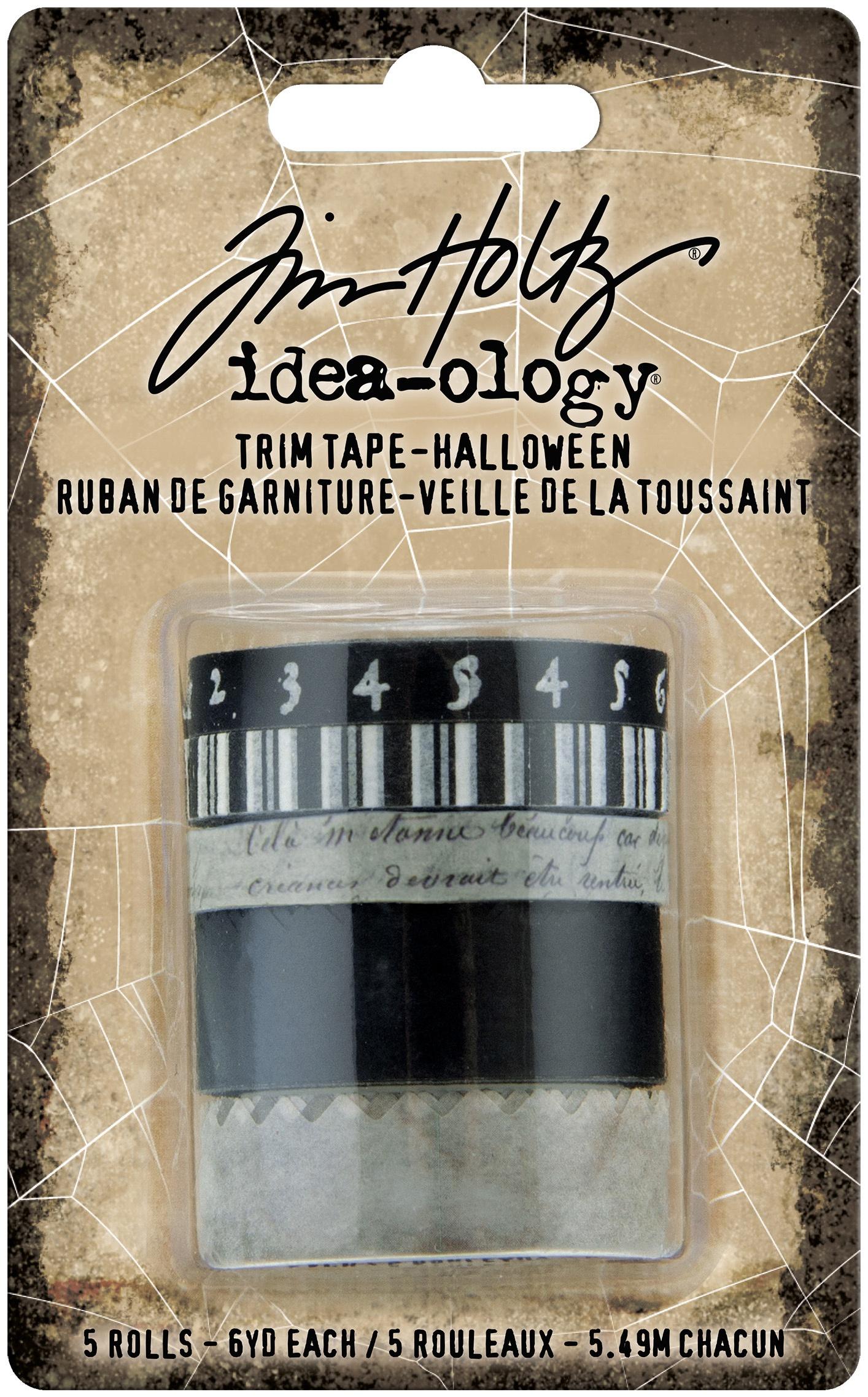 Tim Holtz Idea-Ology Trim Tape 6/Pkg-Halloween
