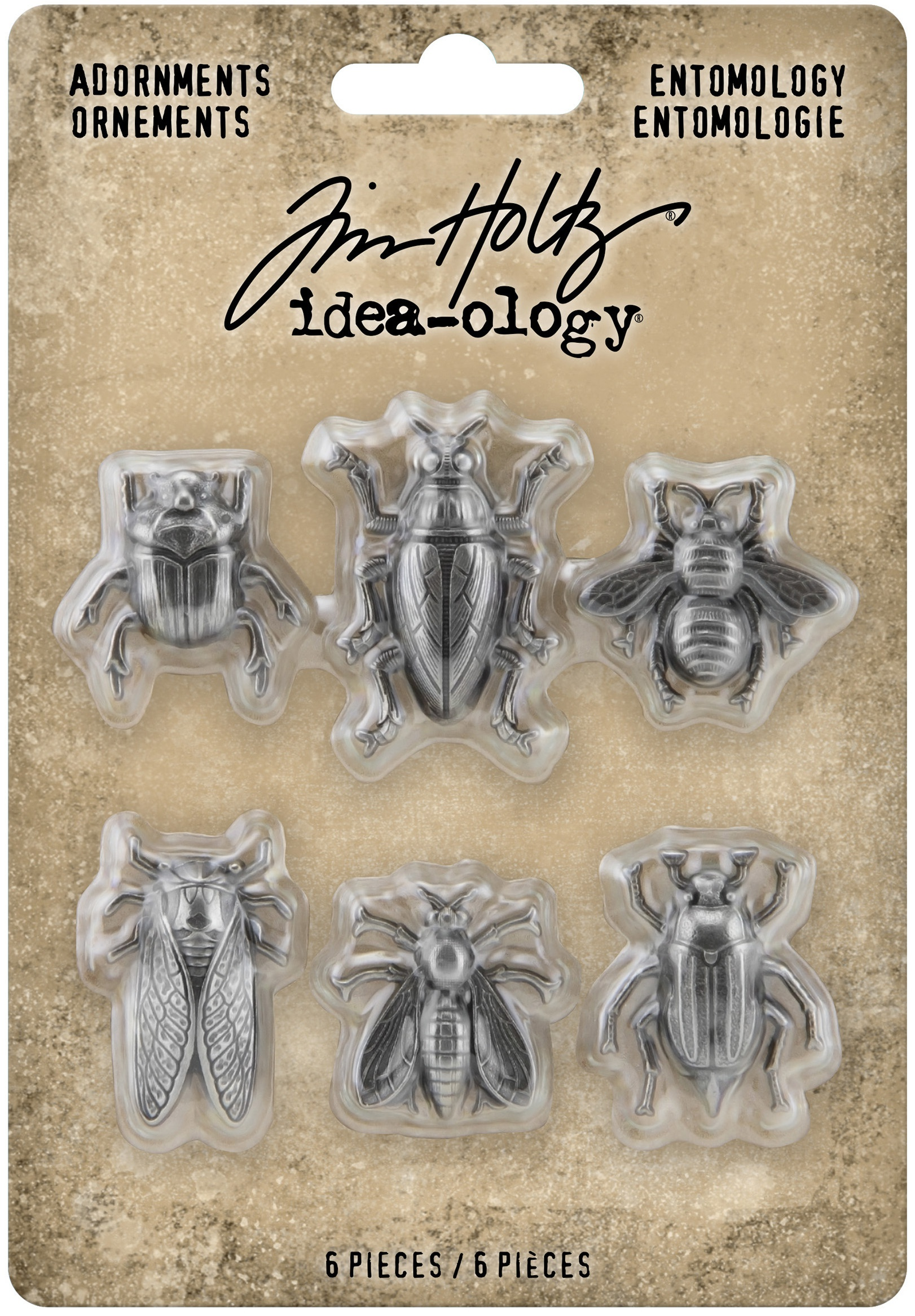 Idea-Ology Metal Adornments 5/Pkg-Entomology