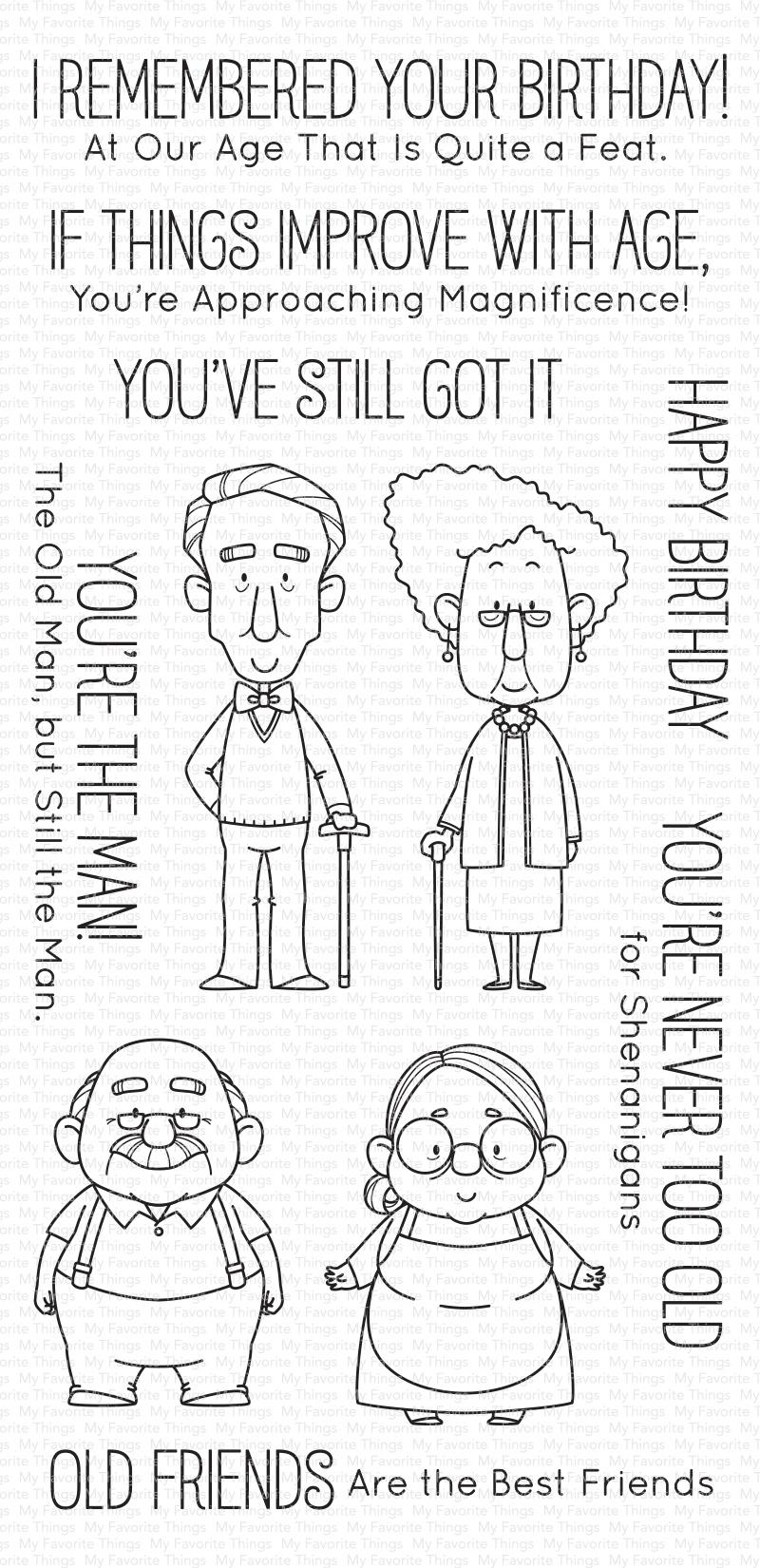 My Favorite Things Birdie Brown Stamps 4X8-Old Friends