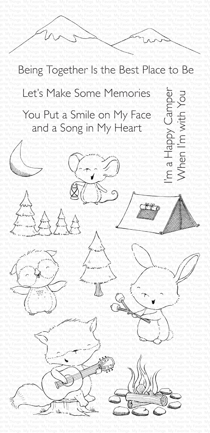 My Favorite Things Stacey Yacula Stamps 4X8-Happy Campers