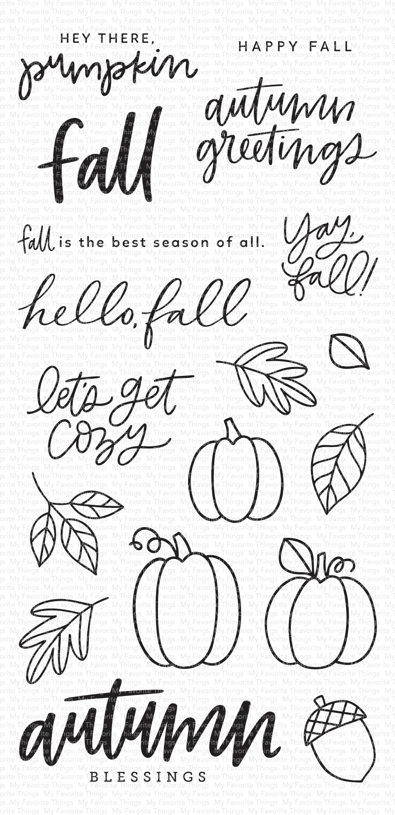My Favorite Things Clear Stamps 4X8-Autumn Blessings