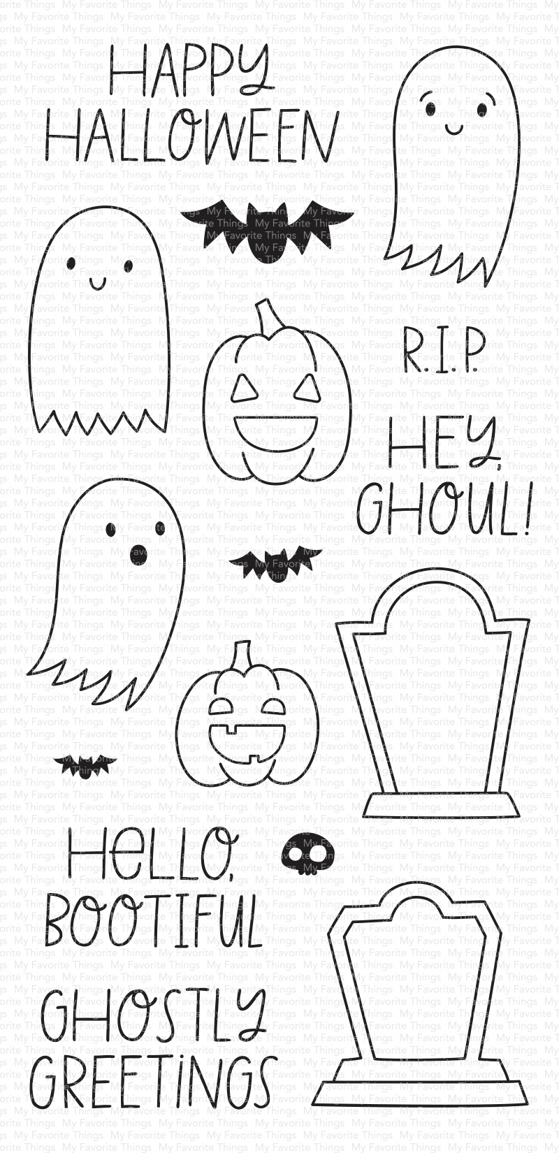 My Favorite Things Clear Stamps 4X8-Ghostly Greetings