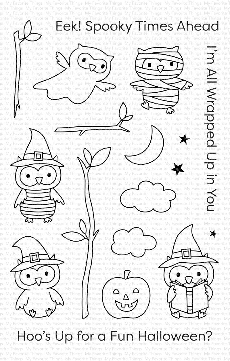 My Favorite Things Clear Stamps 4X6-Halloween Hoo