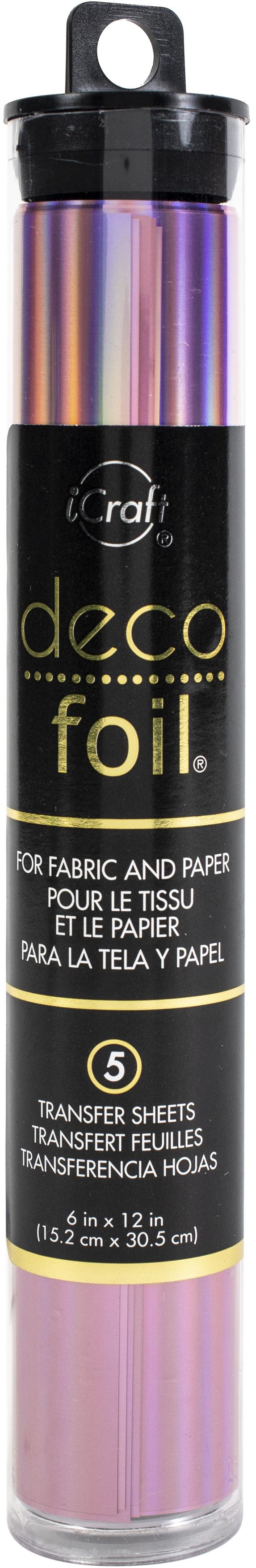 Deco Foil Specialty Transfer Sheets 6X12 5/Pkg-Enchanted Rose