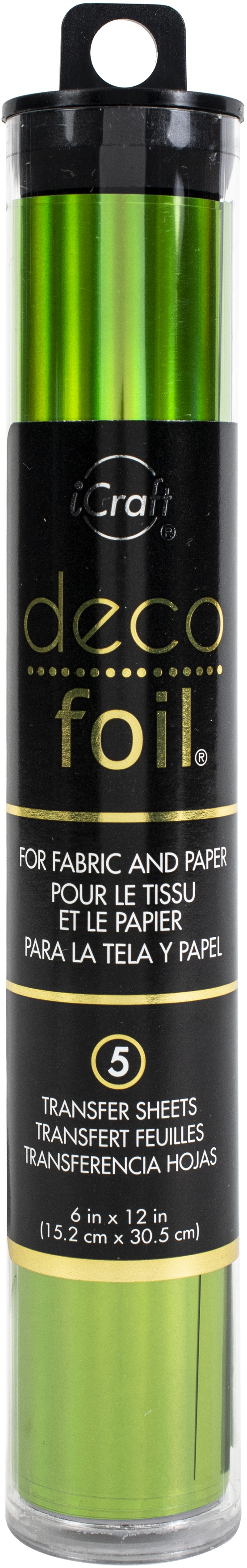Deco Foil Specialty Transfer Sheets 6X12 5/Pkg-Lily Pad