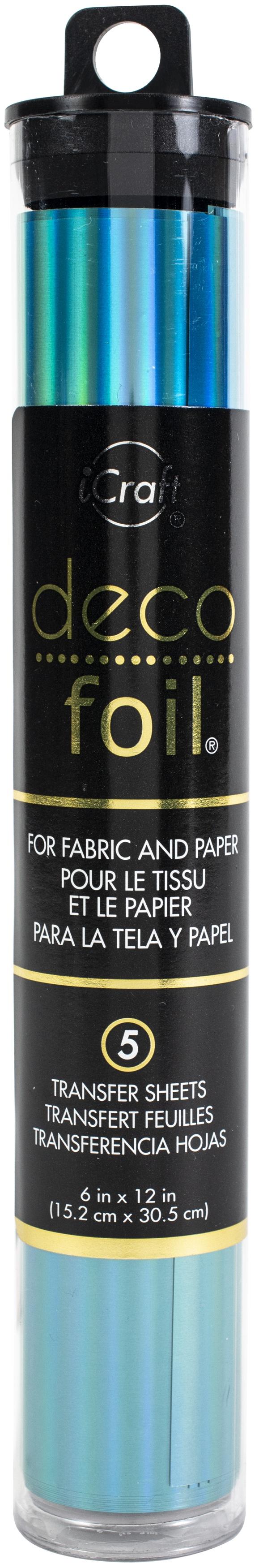 Deco Foil Specialty Transfer Sheets 6X12 5/Pkg-Glass Slipper
