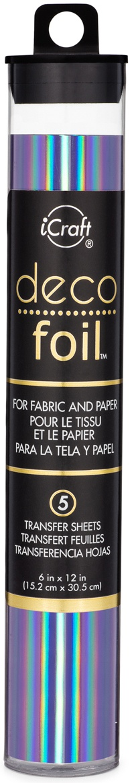 Deco Foil Specialty Transfer Sheets 6X12 5/Pkg-Prince Periwinkle