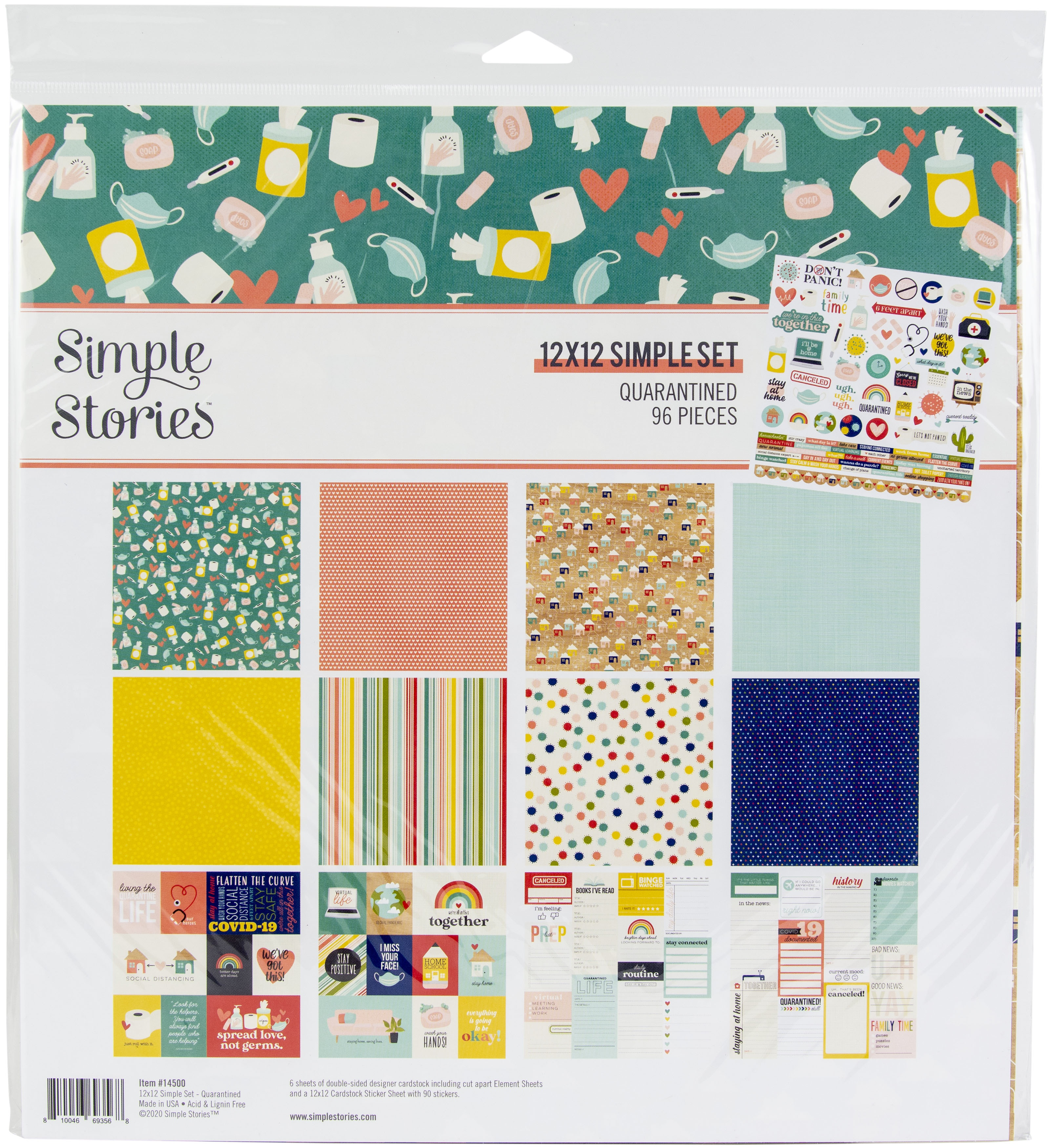 Simple Stories Collection Kit 12X12-Quarantined