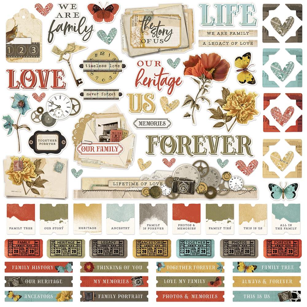 Simple Vintage Ancestry - Cardstock Stickers