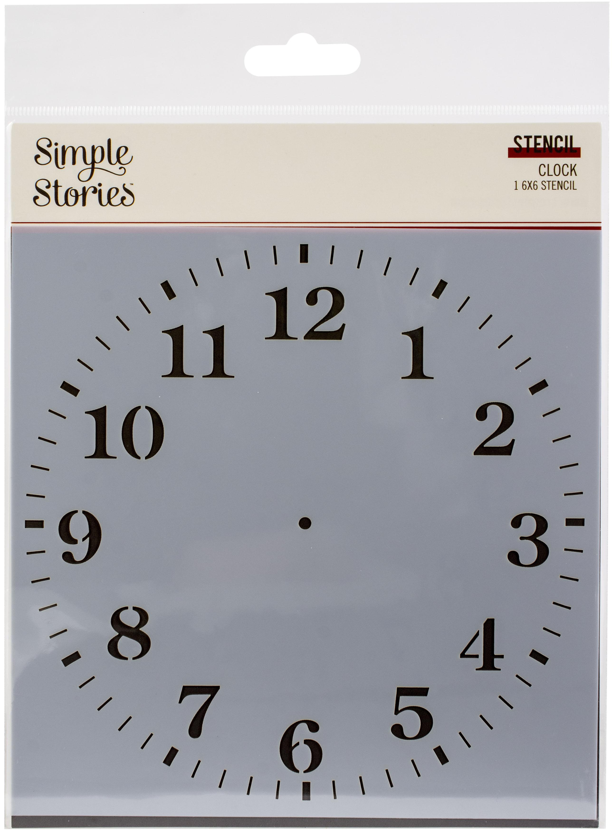 Simple Vintage Ancestry - Clock Stencil