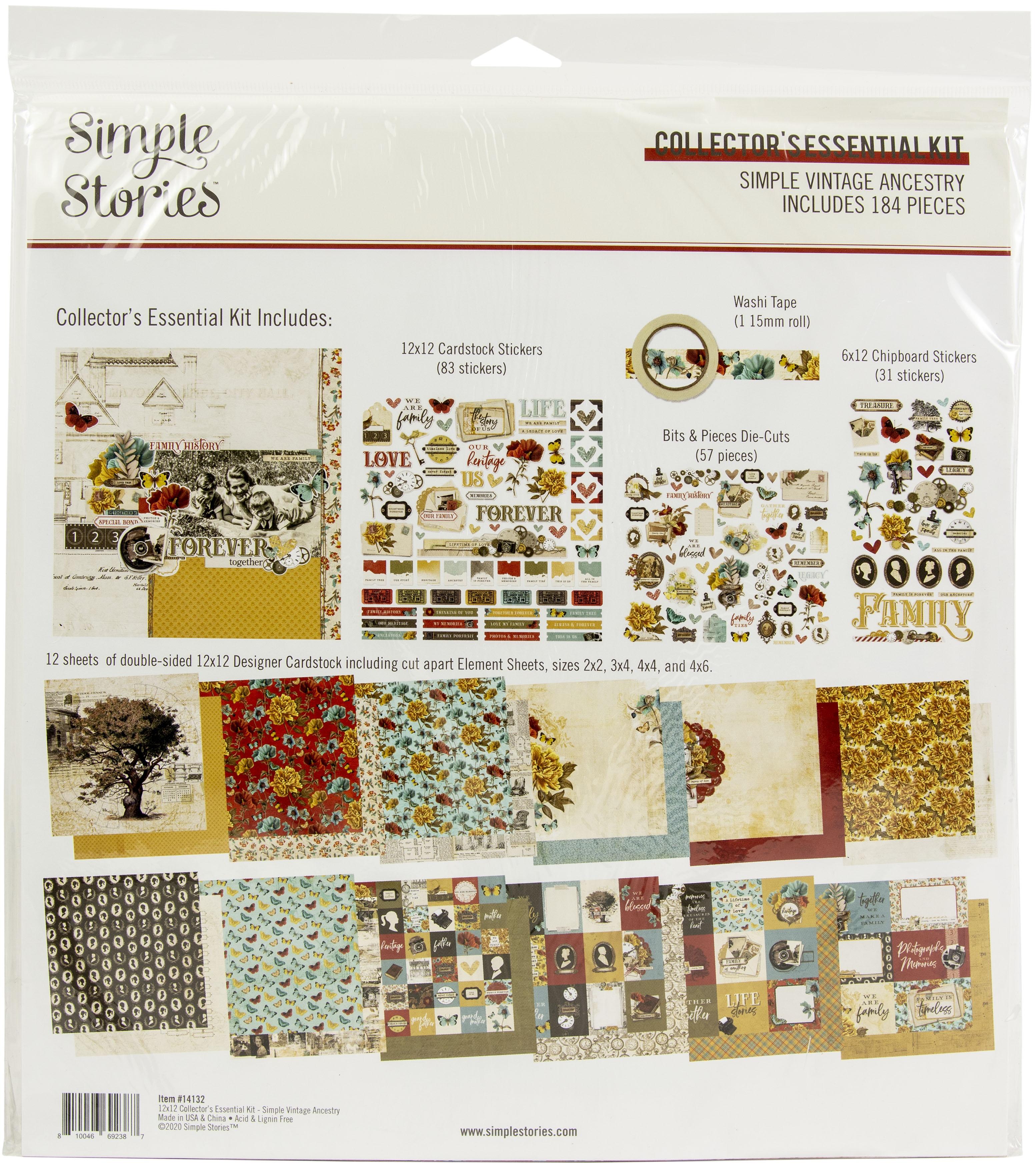 Simple Stories Collector's Essential Kit 12X12 - Simple Vintage Ancestry