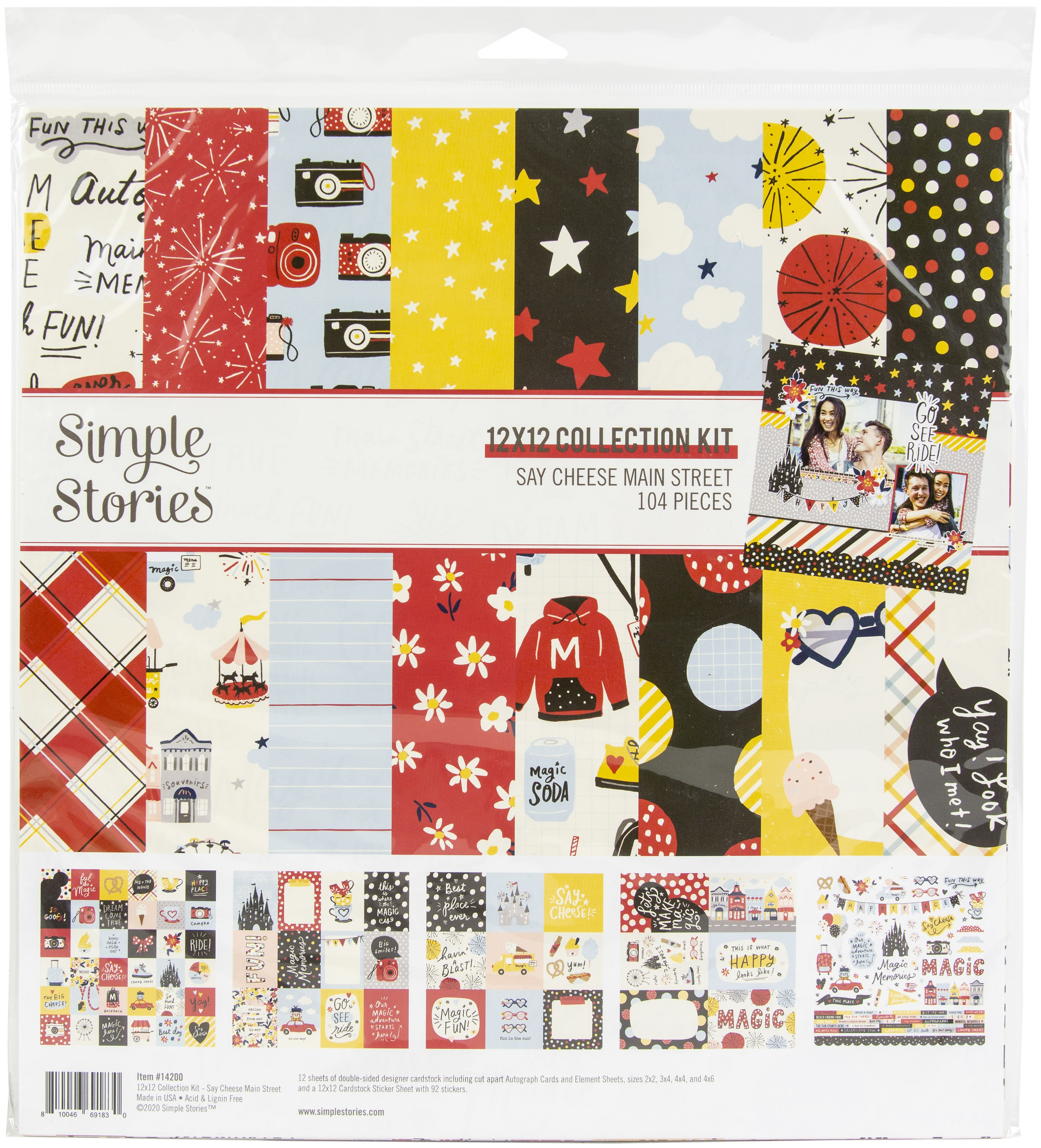 Simple Stories Collection Kit 12X12-Say Cheese Main Street