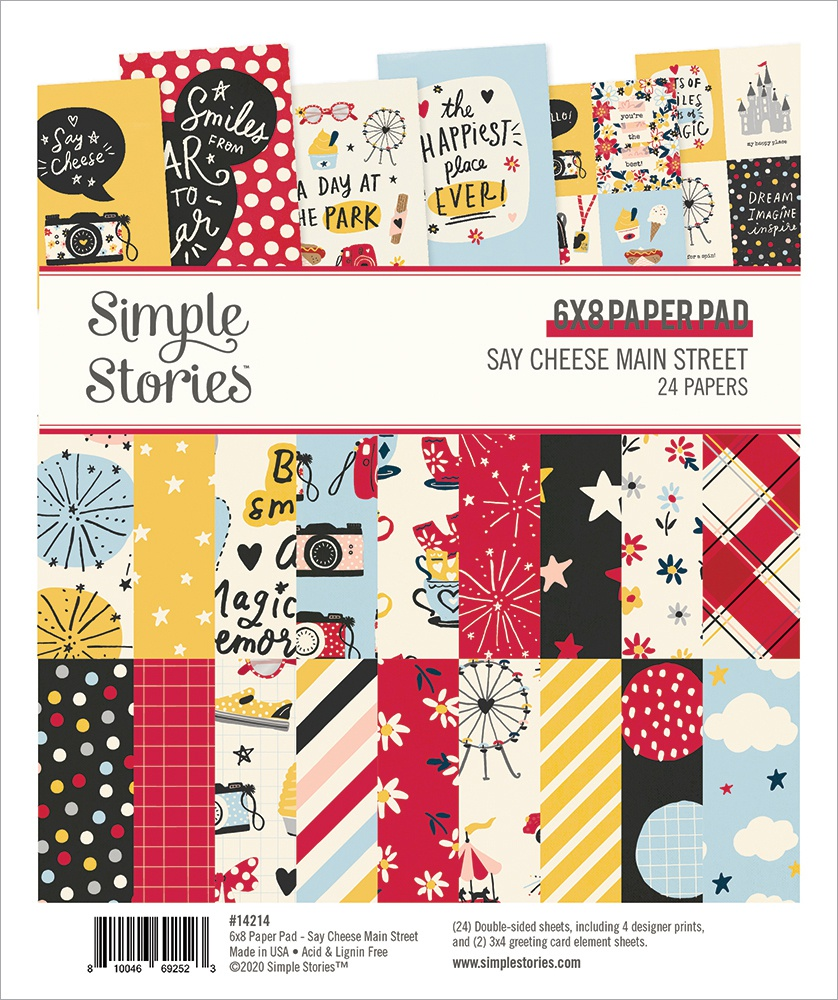 Simple Stories Double-Sided Paper Pad 6X8 24/Pkg-Say Cheese Main Street
