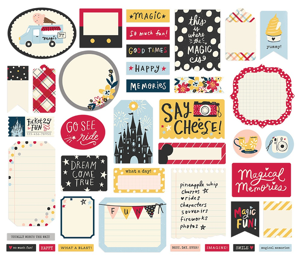 Say Cheese Main Street Bits & Pieces Die-Cuts 39/Pkg-Journal