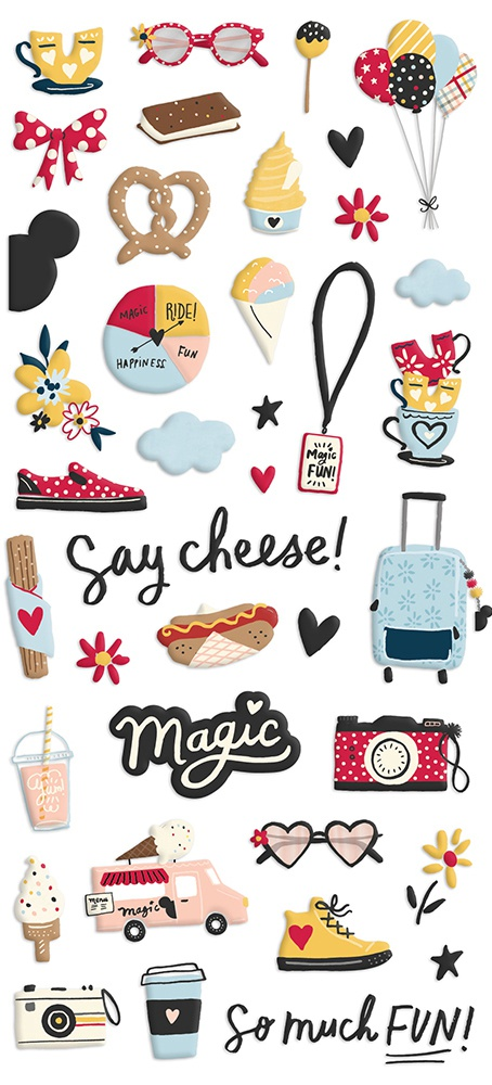 Say Cheese Main Street Puffy Stickers 39/Pkg-