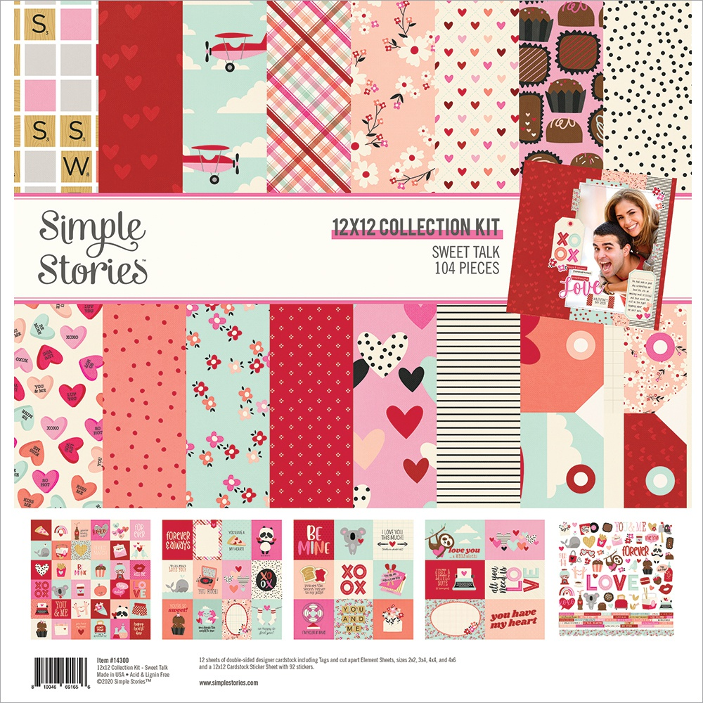 Simple Stories Collection Kit 12X12-Sweet Talk