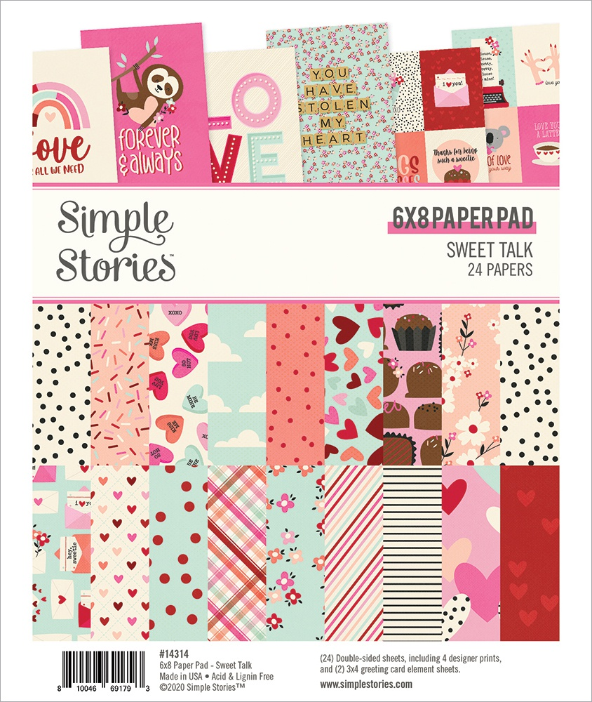 Simple Stories Double-Sided Paper Pad 6X8 24/Pkg-Sweet Talk