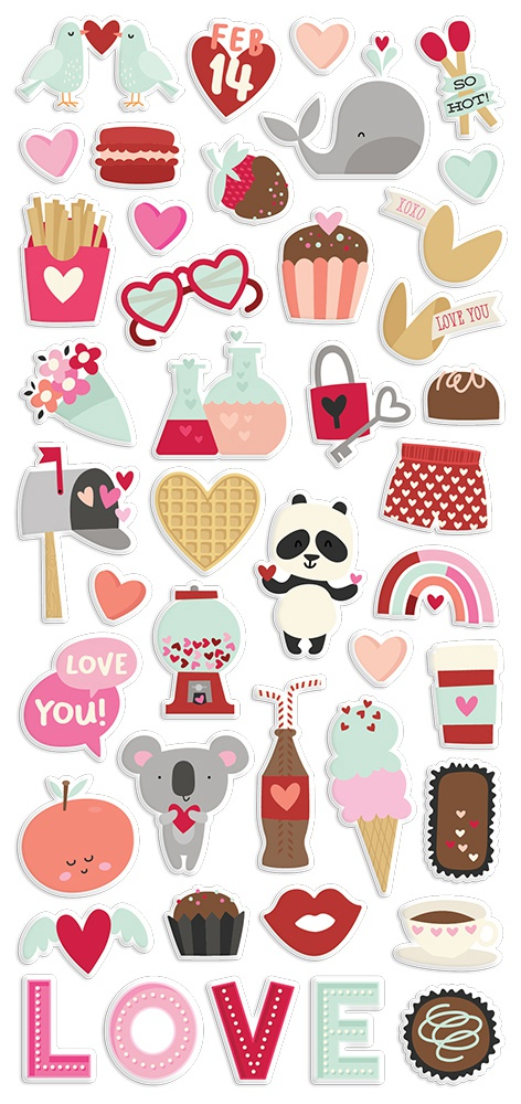 Simple Stories Sweet Talk - Puffy Stickers
