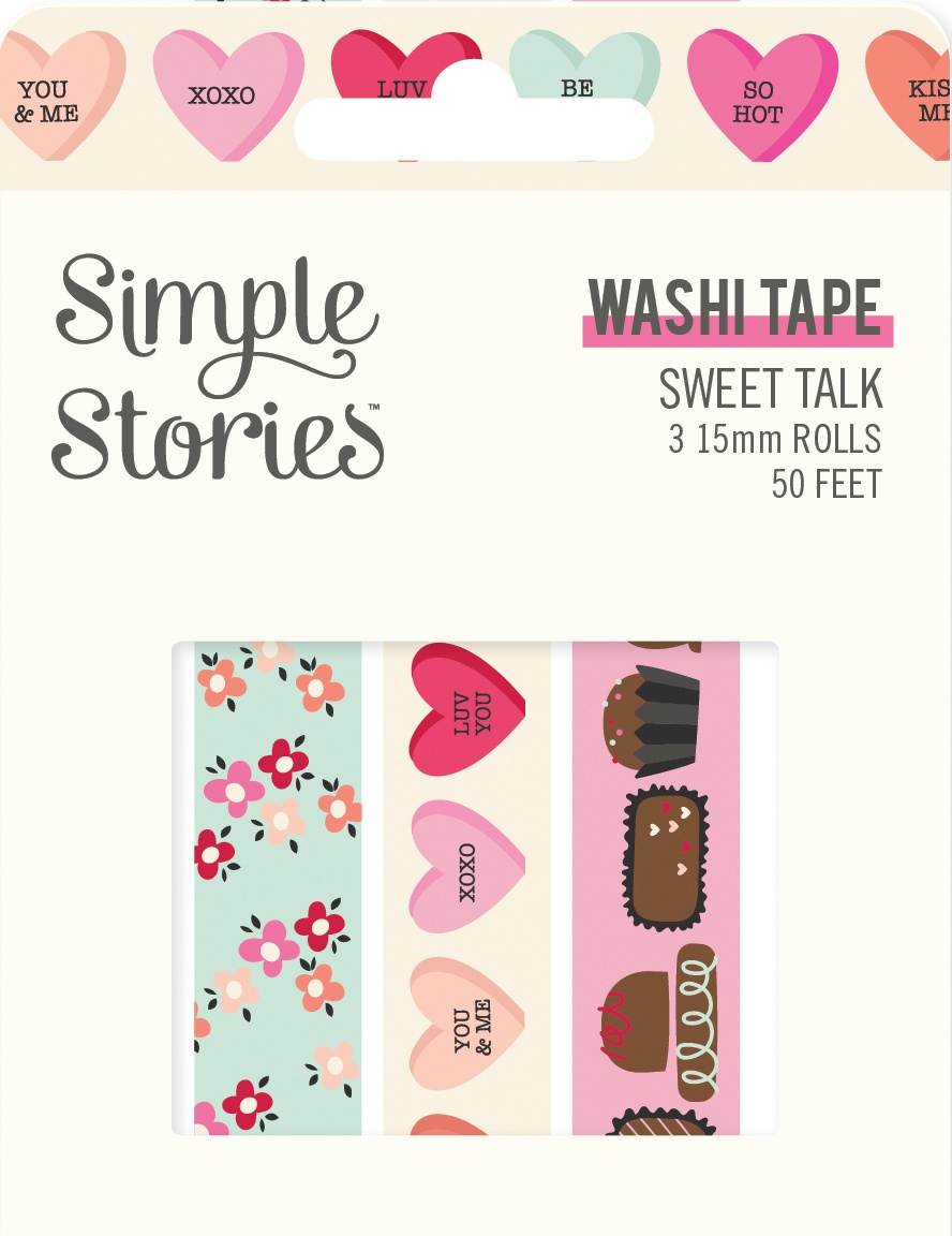 Simple Stories Sweet Talk Washi Tape 3/Pkg-