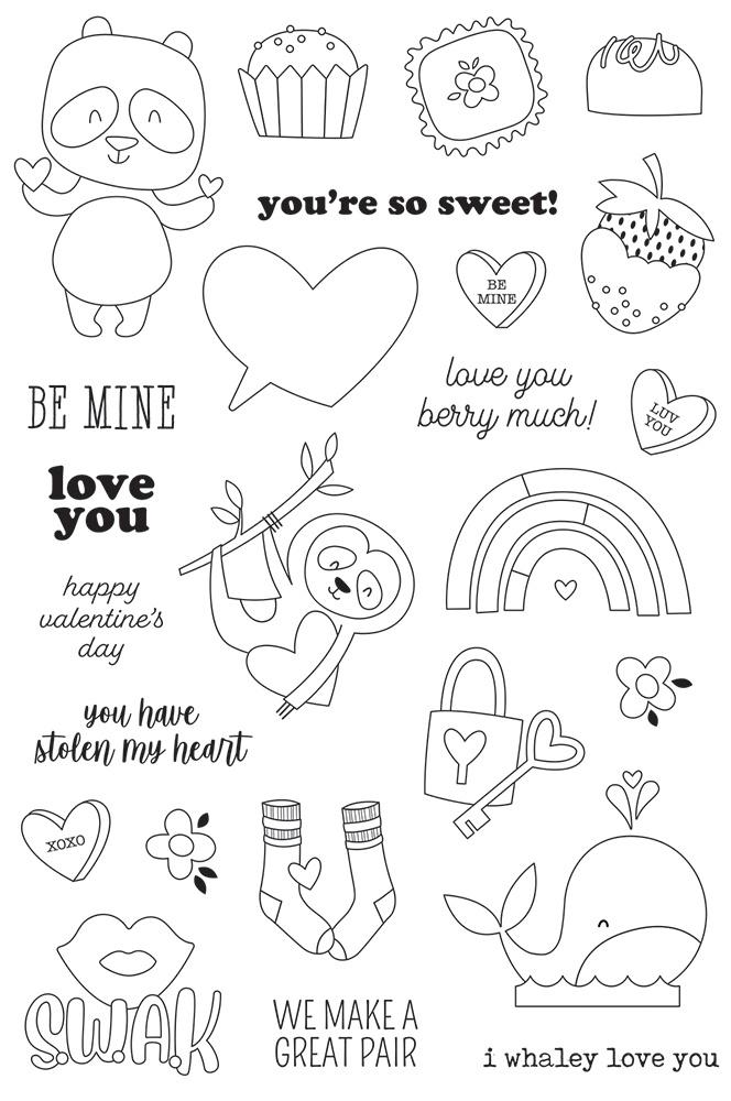 Simple Stories Sweet Talk - 4x6 Stamp Set