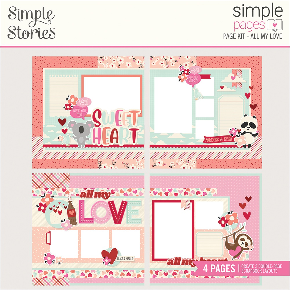 Simple Pages Page Kit All My Love