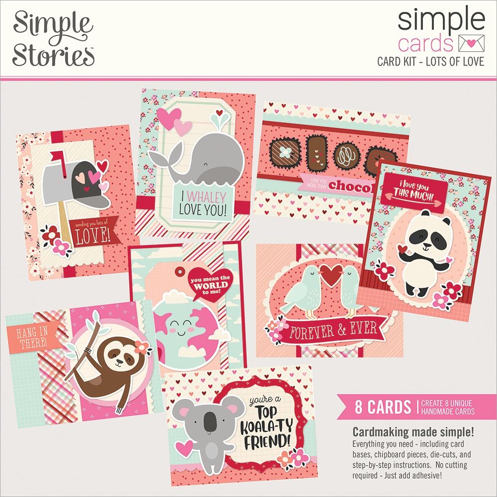 Simple Stories Simple Cards Card Kit - Lots Of Love
