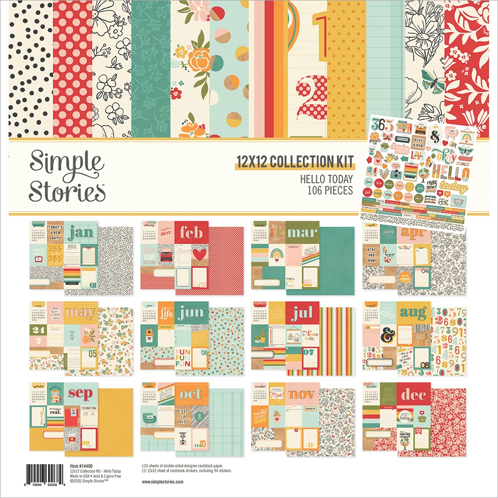 Simple Stories Collection Kit 12X12-Hello Today
