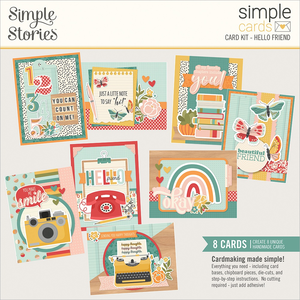Simple Stories Simple Cards Card Kit-Hello Friend