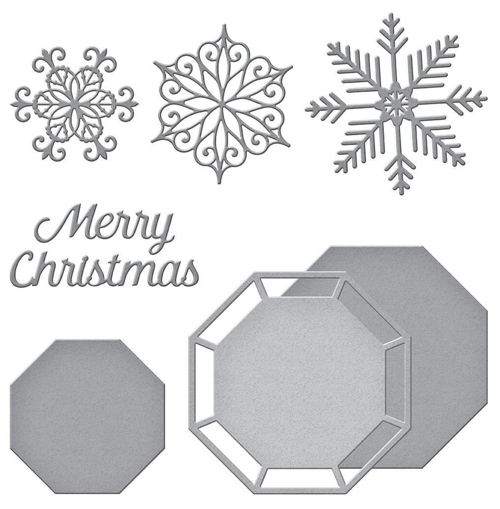 Spellbinders Etched Dies By Becca Feeken-Snowflake Splendor- Christmas Cascade