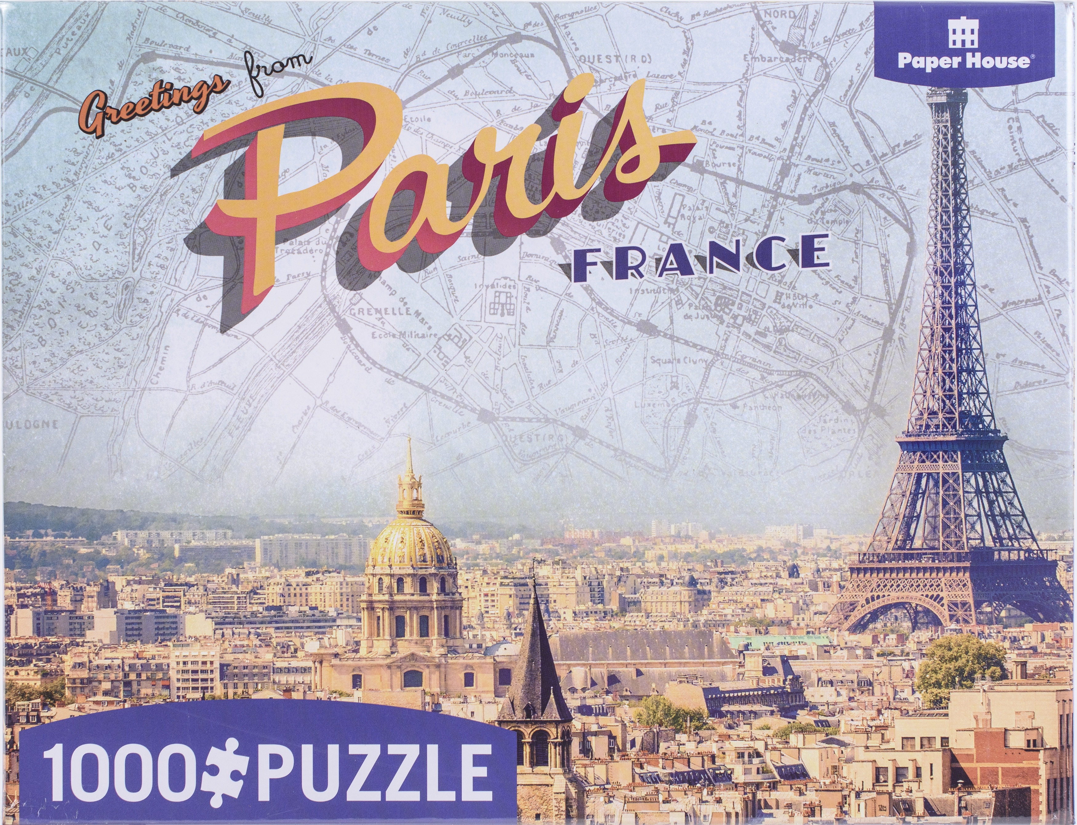 Playhouse Puzzle 1000 Pieces - Greetings From Paris