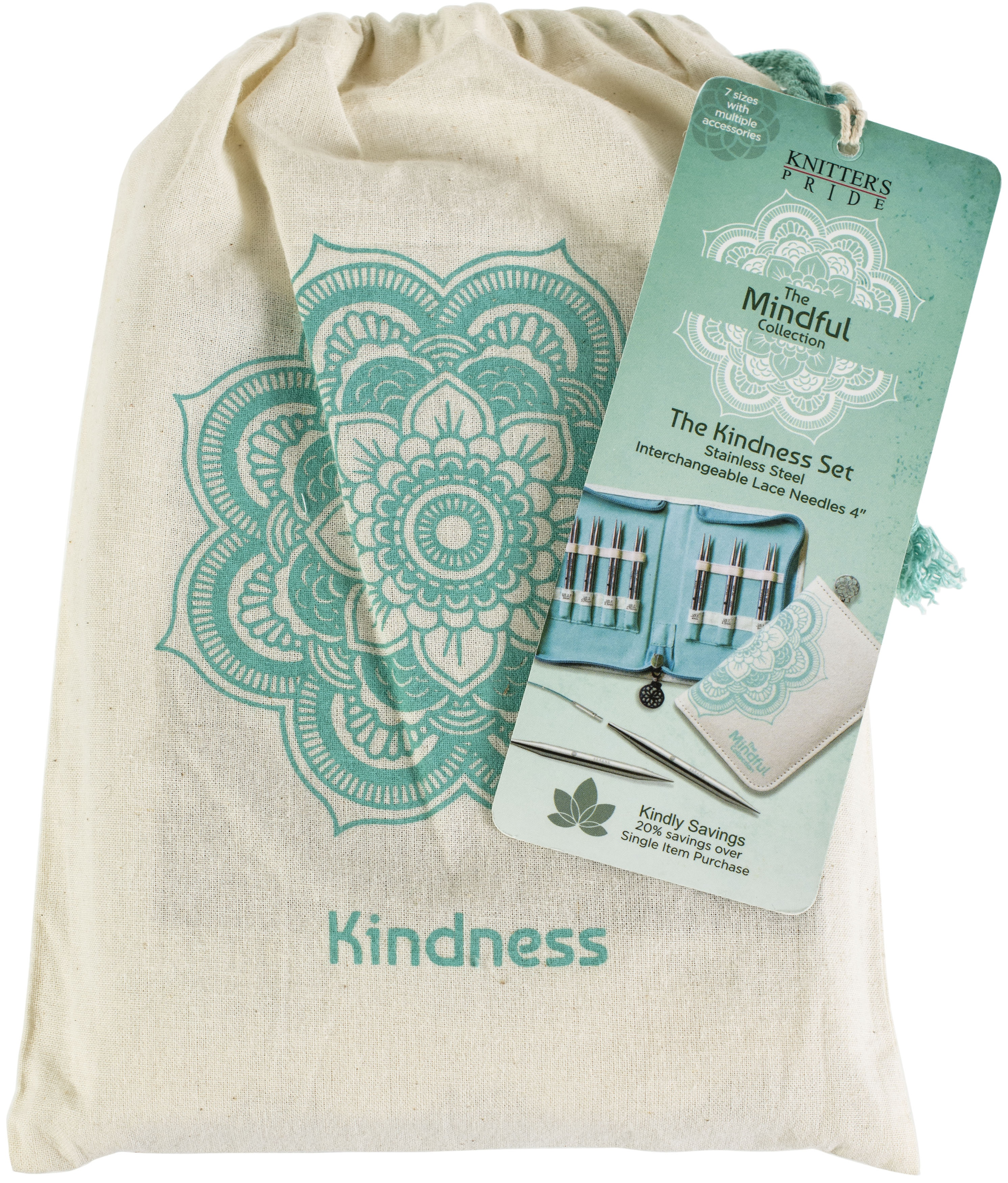 Knitter's Pride-Mindful Interchangeable Lace Needles Set 4-Kindness Sizes 2.5/3...