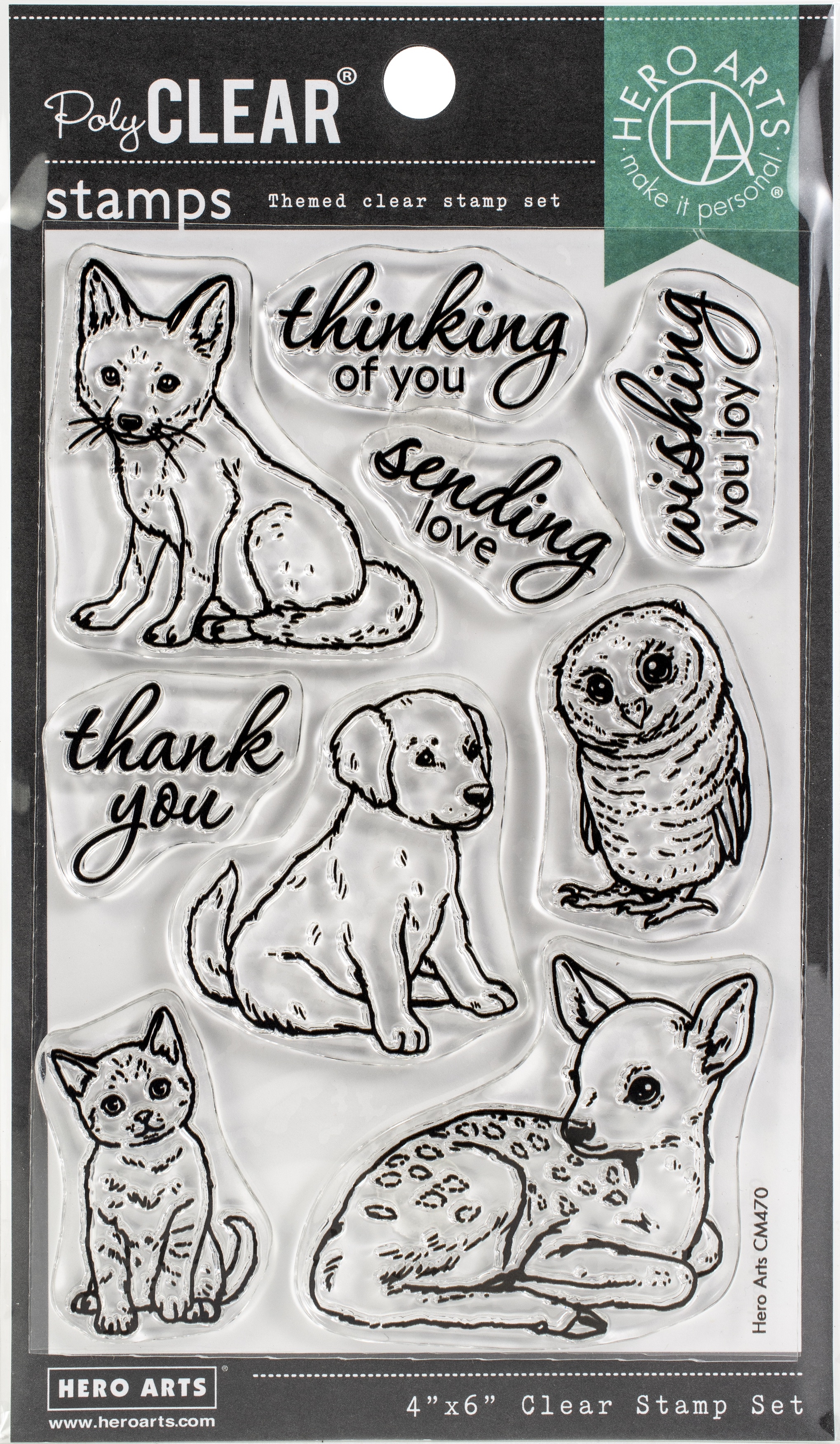 Hero Arts - Fawn & Friends,  Clear Stamps 4X6